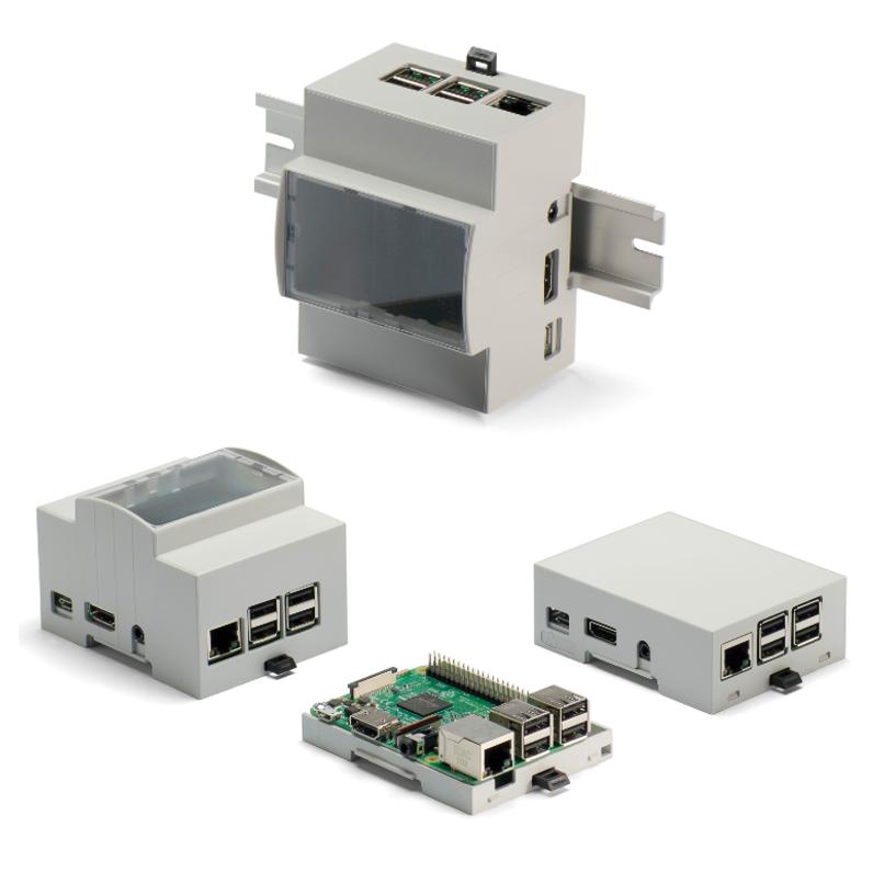 DINレールマウント型 Raspberry Pi ケース
