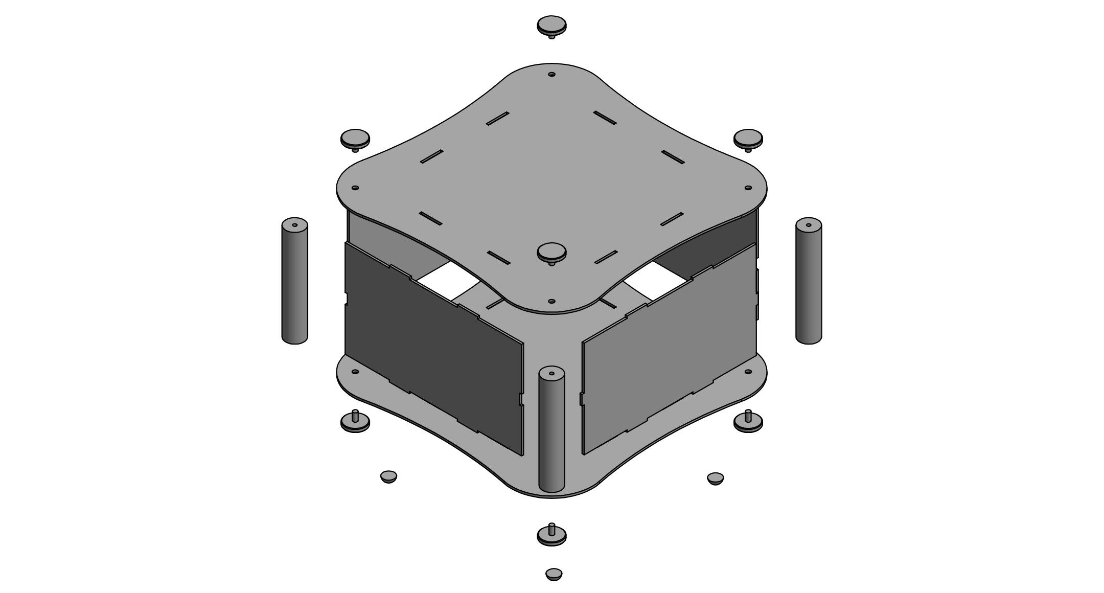 曲線型アルミフリーサイズケース ALRFシリーズの画像