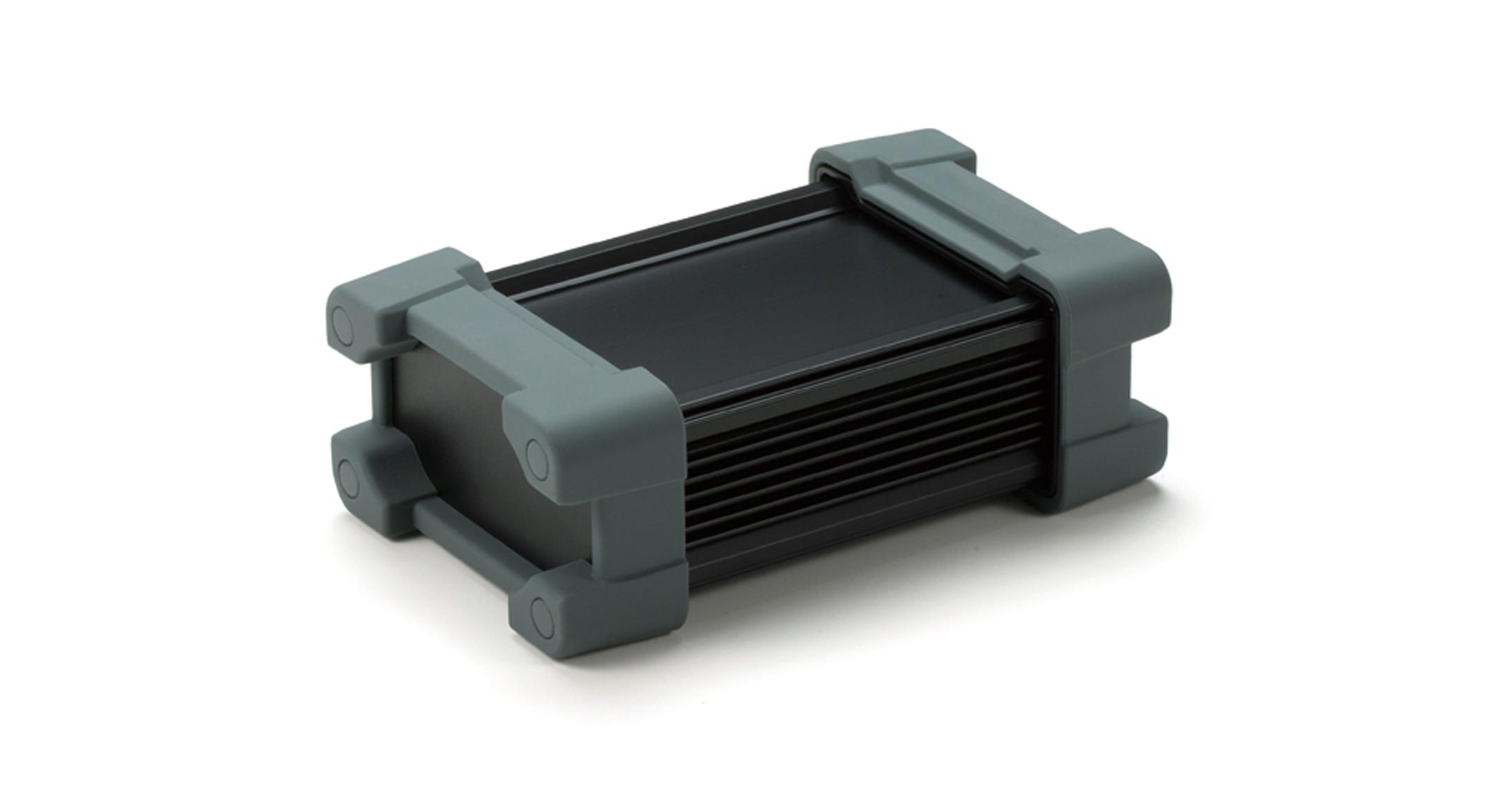 プロテクター付防水アルミケース AWPシリーズ:ブラック/グレーの画像