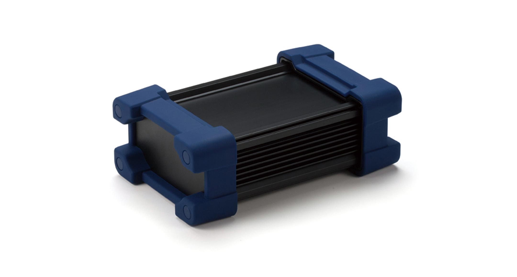プロテクター付防水アルミケース AWPシリーズ:ブラック/ネイビーの画像