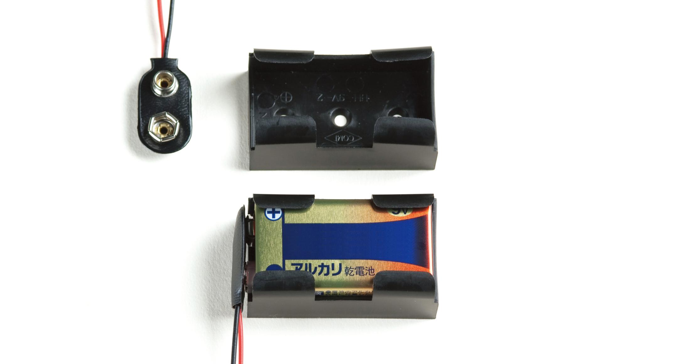 9V電池ホルダー・006P電池ホルダー BH-9Vシリーズの画像