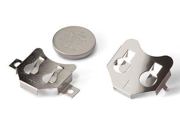 金属製 コイン電池ホルダー SMTM・BKシリーズ