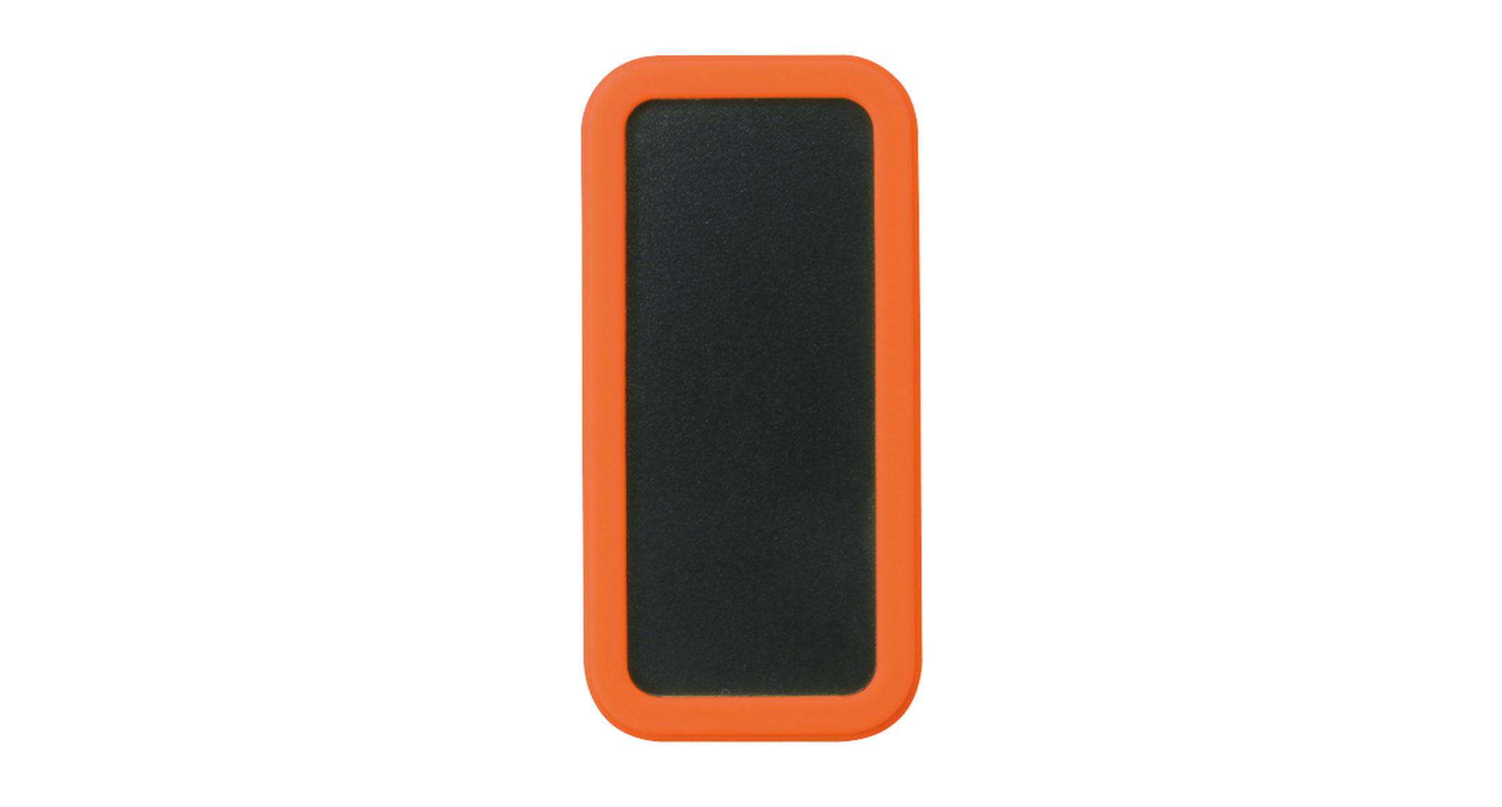 シリコンカバー付ポータブルケース CSSシリーズ:ブラック/オレンジの画像