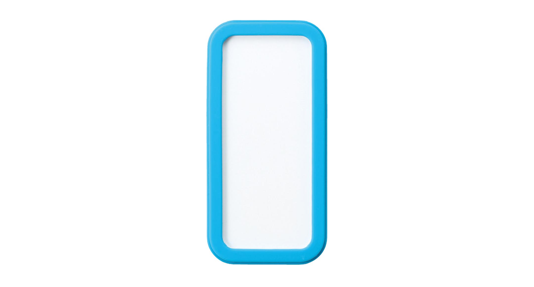 シリコンカバー付ポータブルケース CSSシリーズ:ホワイト/シアンブルーの画像