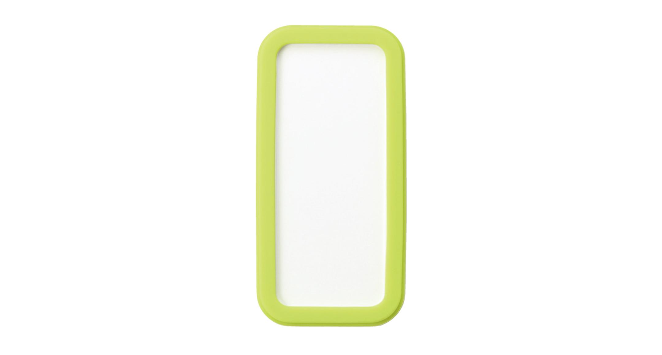 シリコンカバー付ポータブルケース CSSシリーズ:ホワイト/グリーンの画像