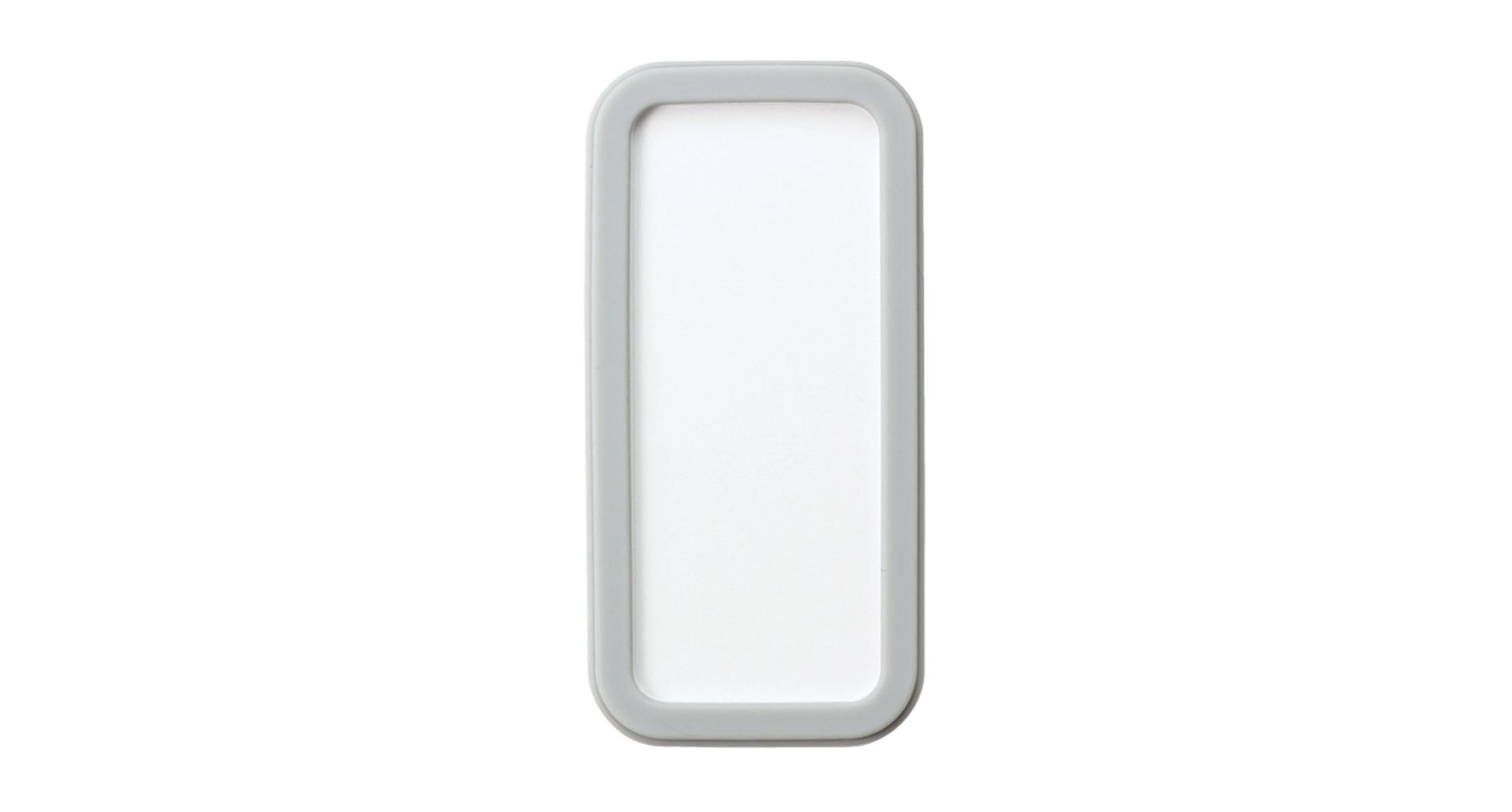シリコンカバー付ポータブルケース CSSシリーズ:ホワイト/ライトグレーの画像
