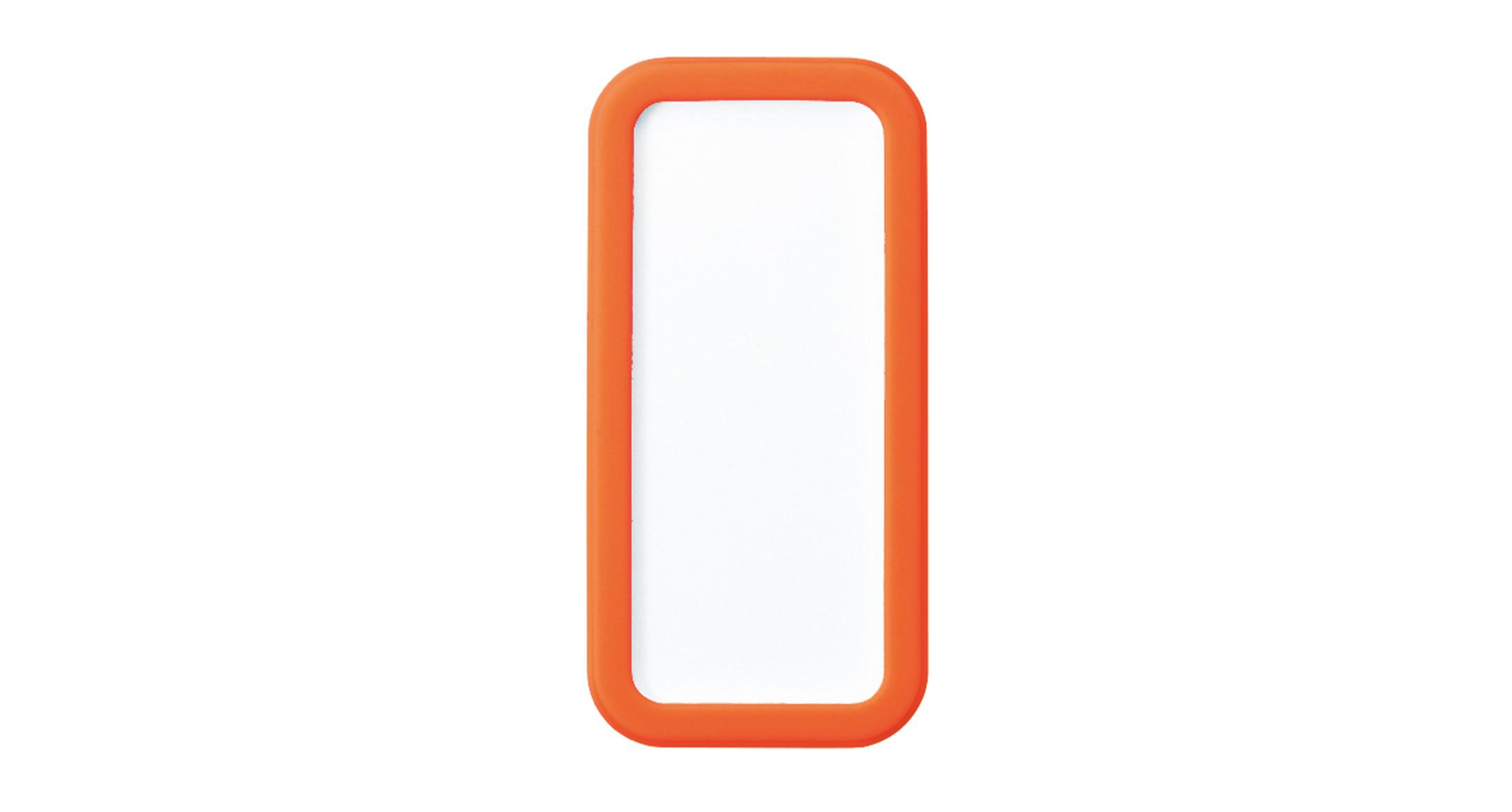 シリコンカバー付ポータブルケース CSSシリーズ:ホワイト/オレンジの画像