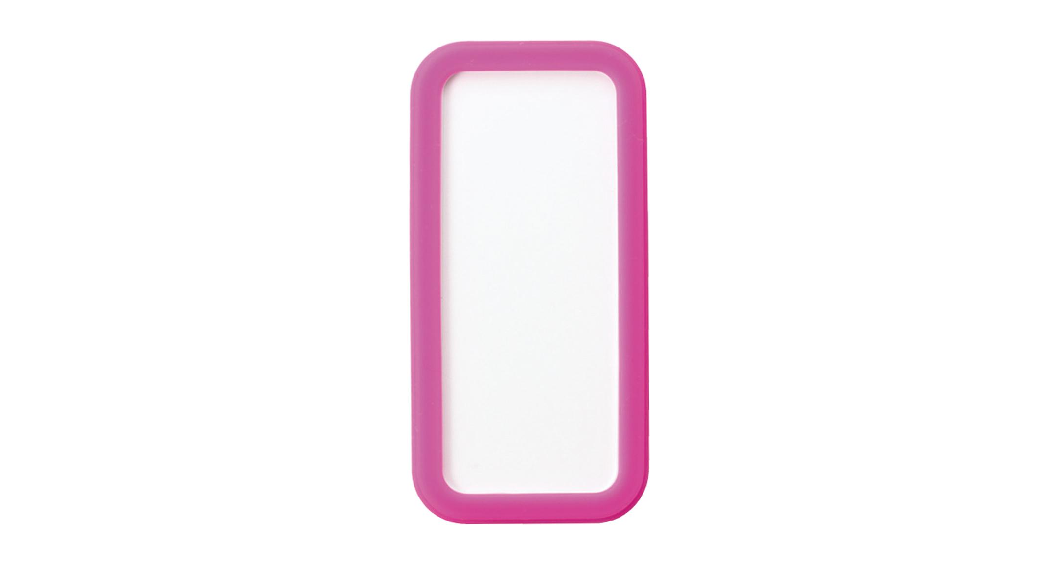 シリコンカバー付ポータブルケース CSSシリーズ:ホワイト/ピンクの画像