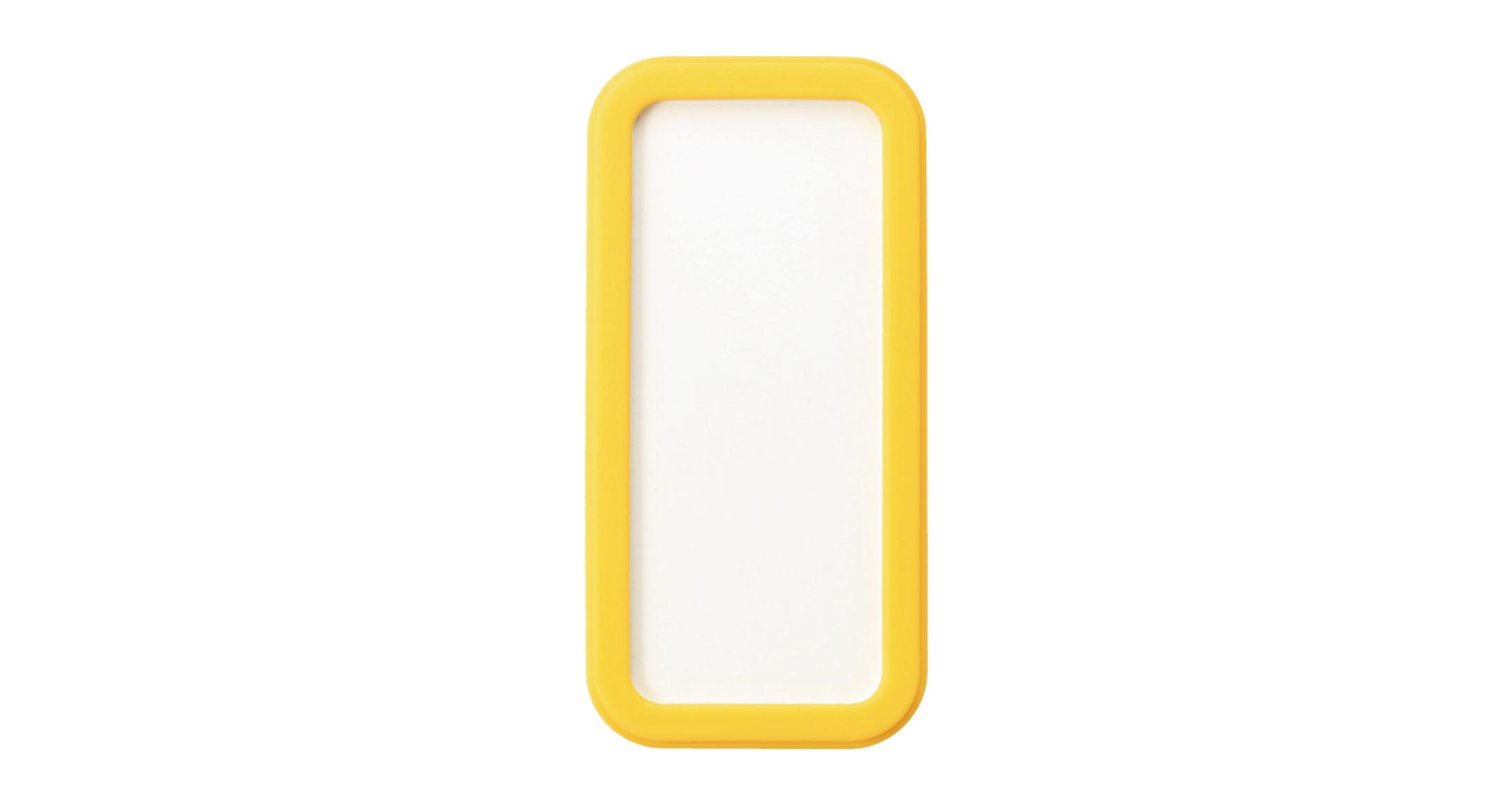 シリコンカバー付ポータブルケース CSSシリーズ:ホワイト/イエローの画像