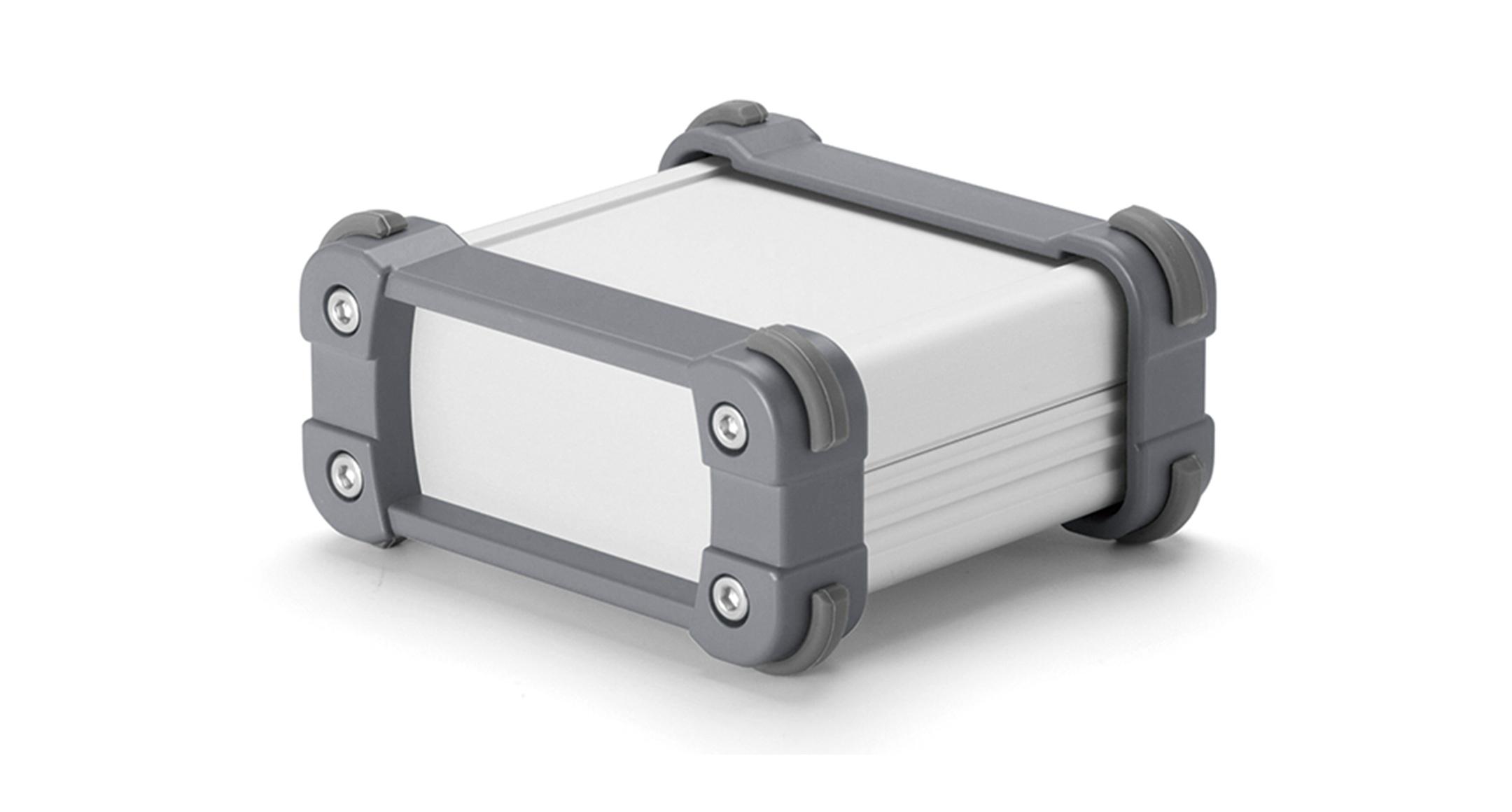 EMCシールド コーナーガード付ケース EXPEシリーズ:シルバー/グレーの画像