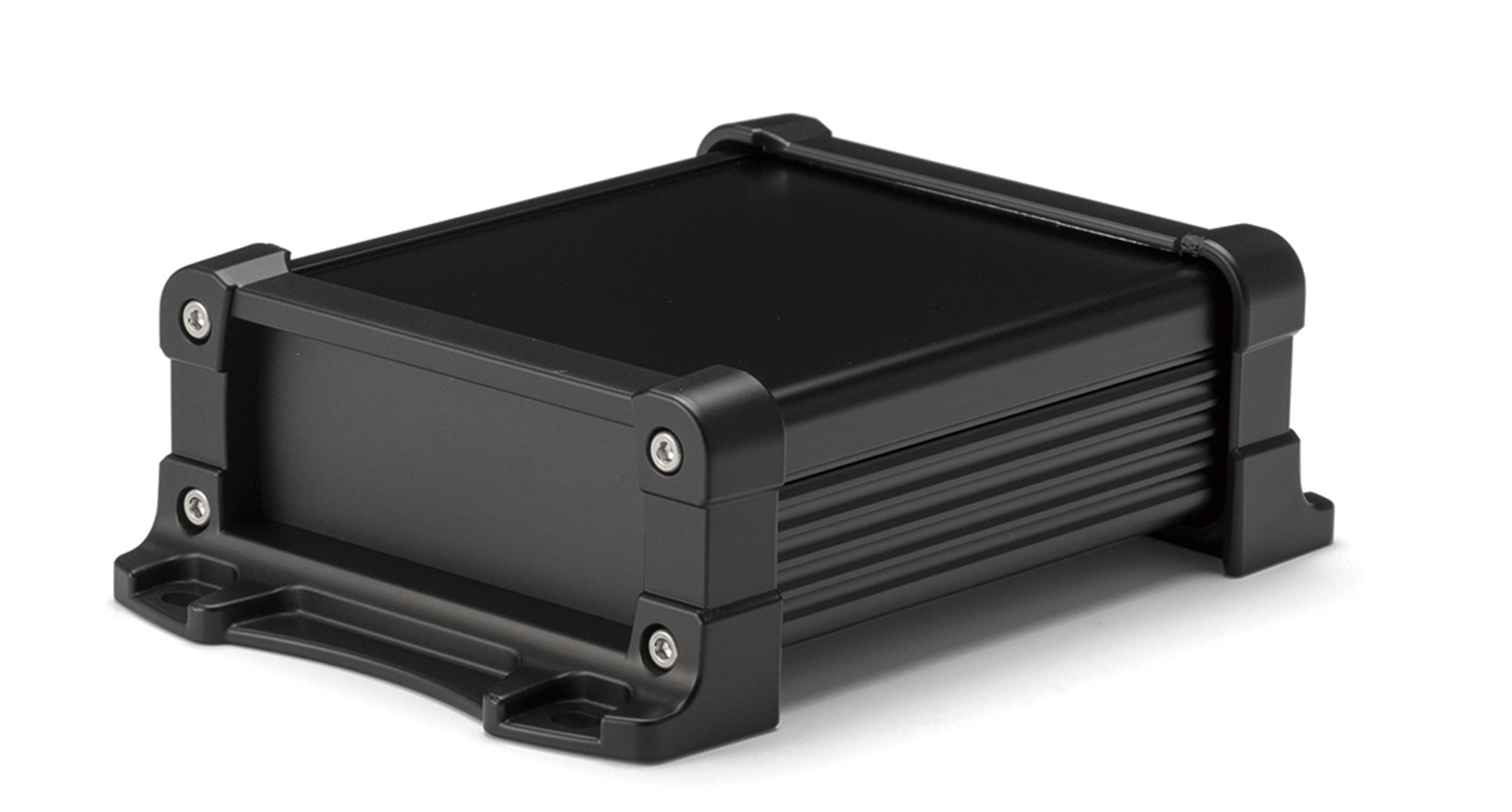 フランジ足付フリーサイズアルミケース EXPFSシリーズ:ブラック/ブラックの画像