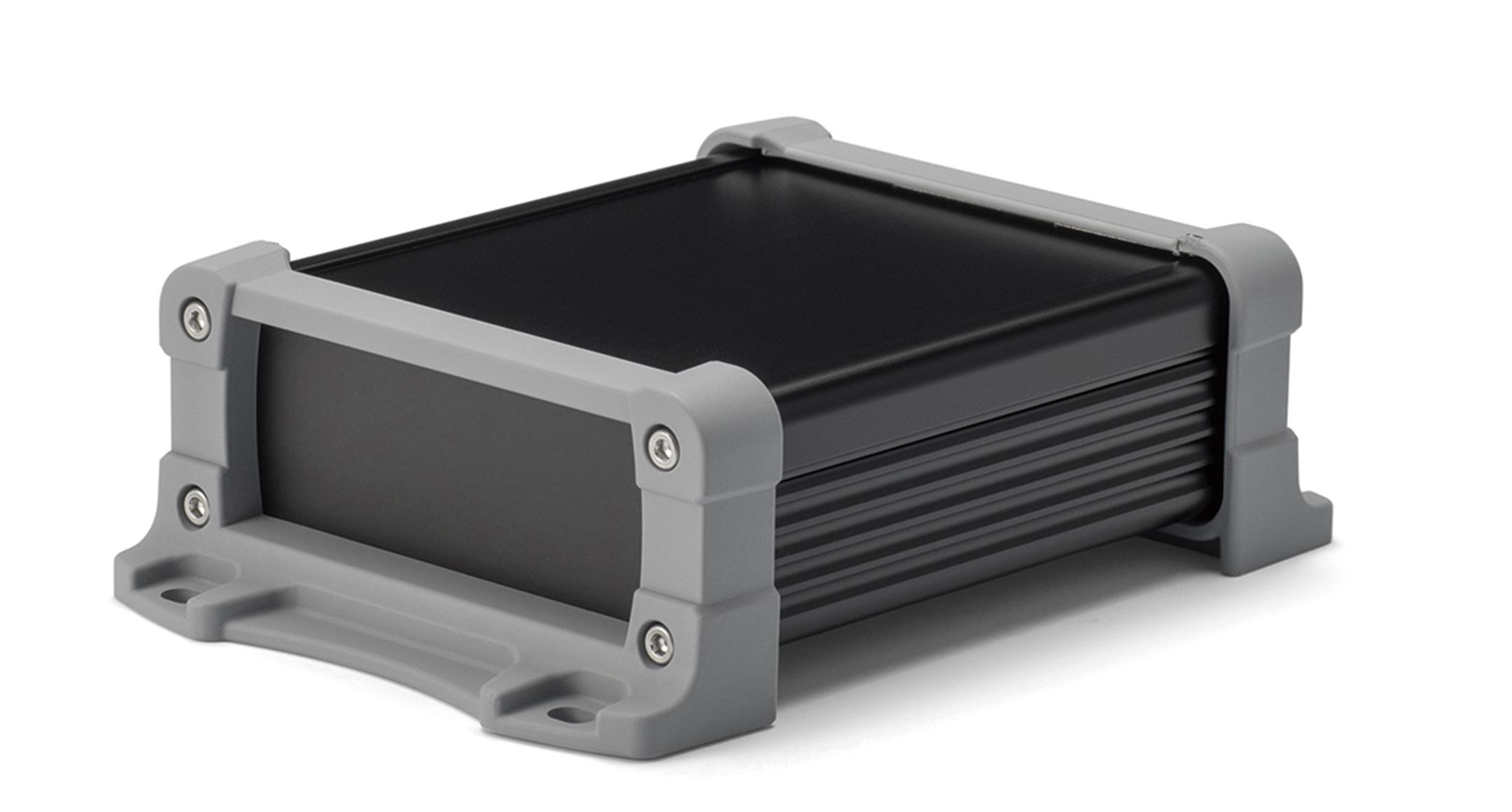 フランジ足付フリーサイズアルミケース EXPFSシリーズ:ブラック/グレーの画像