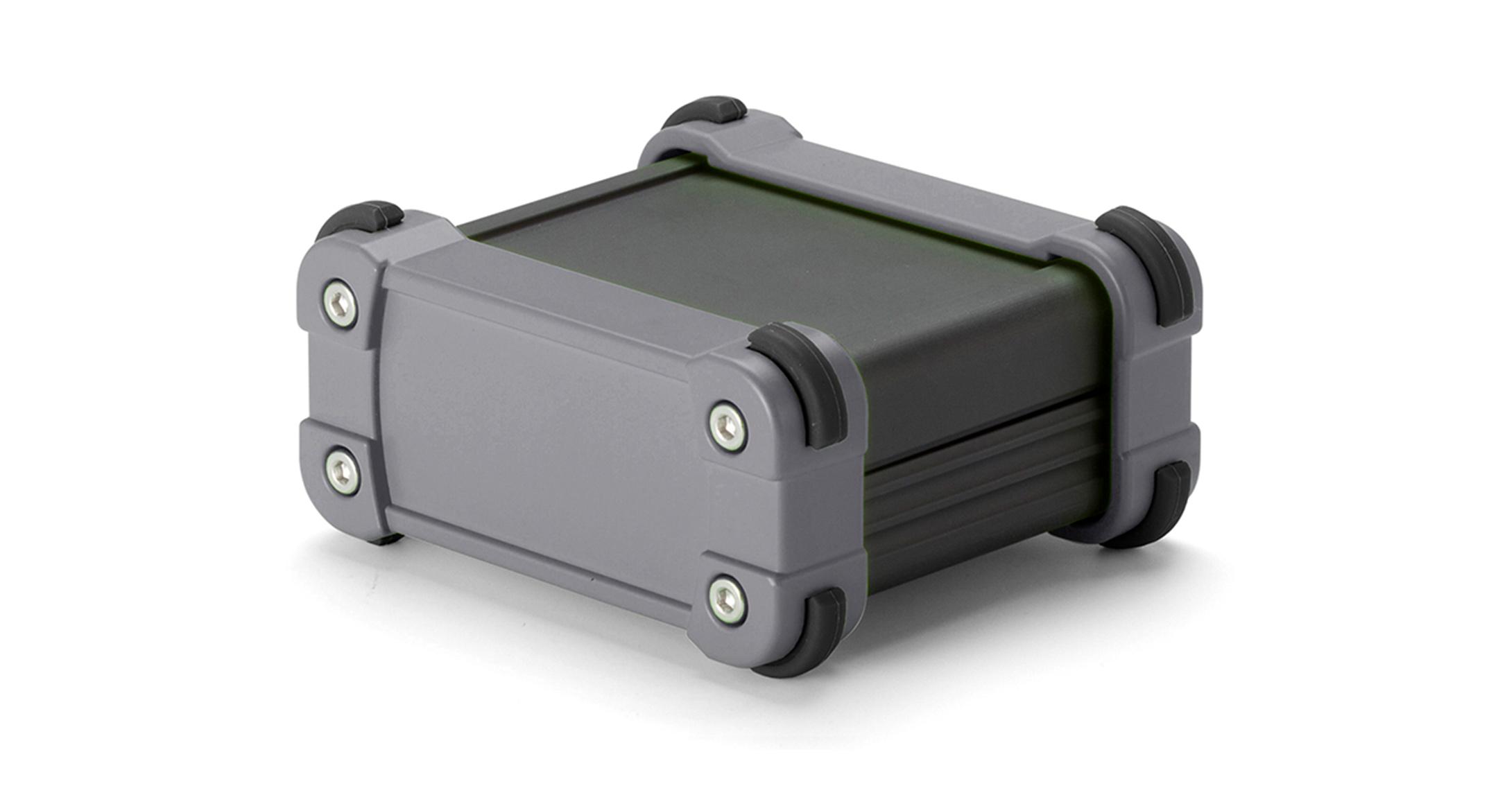 IP65コーナーガード付 防水アルミケース EXWシリーズ:ブラック/グレーの画像