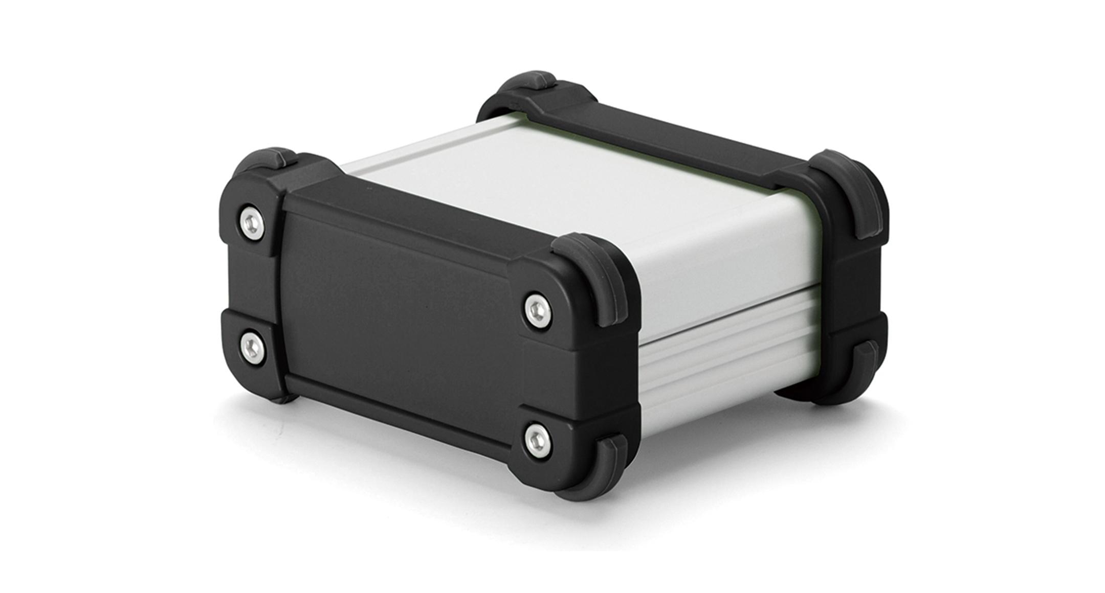 IP65コーナーガード付 防水アルミケース EXWシリーズ:シルバー/ブラックの画像