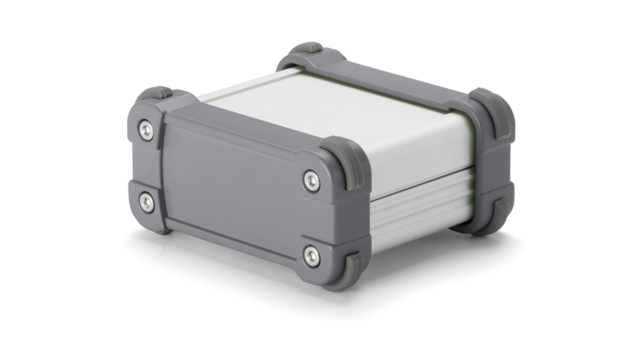 IP65コーナーガード付 防水アルミケース EXWシリーズ:シルバー/グレーの画像