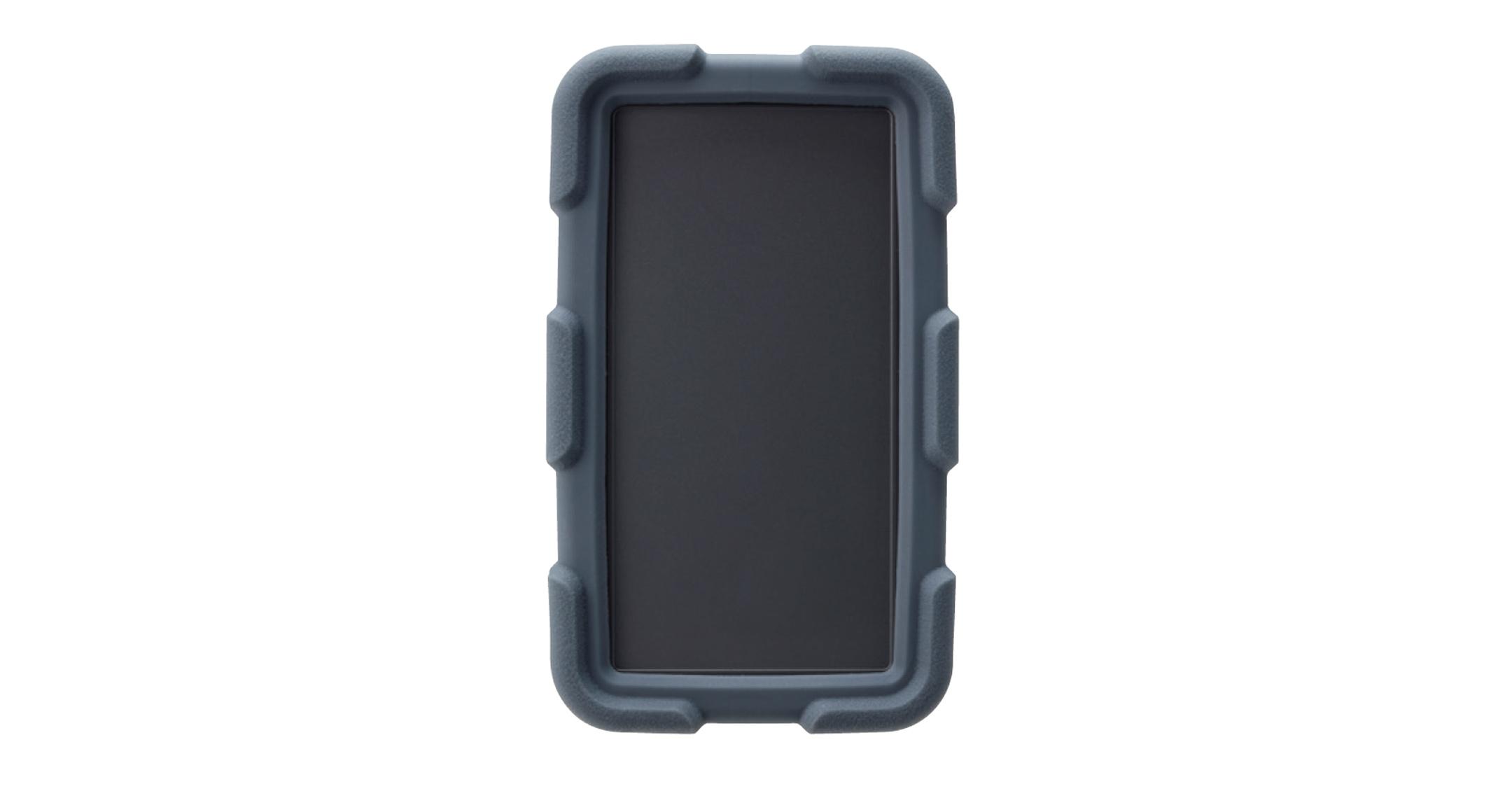耐衝撃シリコンカバー付プラスチックケース LCTシリーズ:ダークグレー/ダークグレーの画像