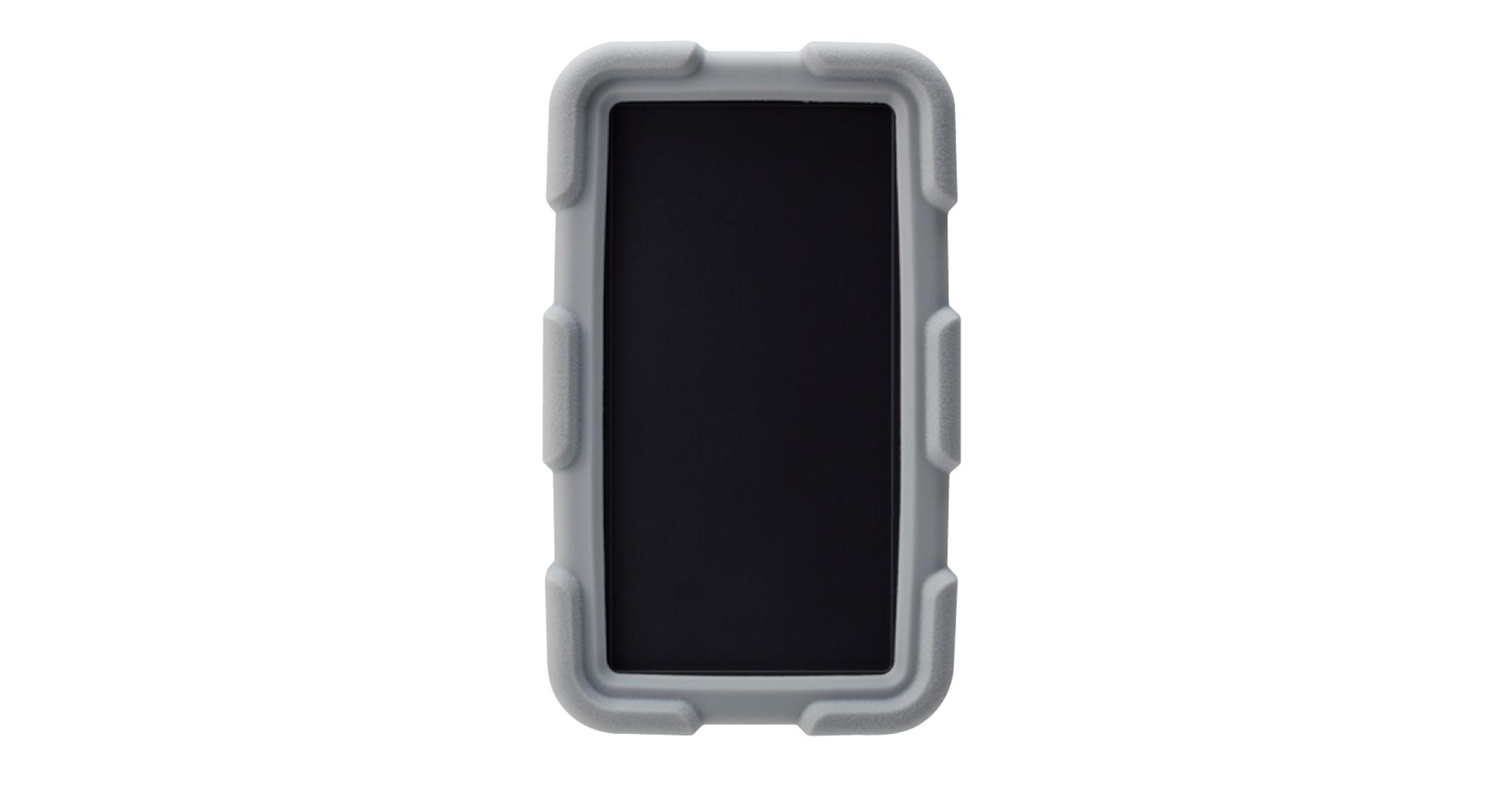 耐衝撃シリコンカバー付プラスチックケース LCTシリーズ:ダークグレー/ライトグレーの画像