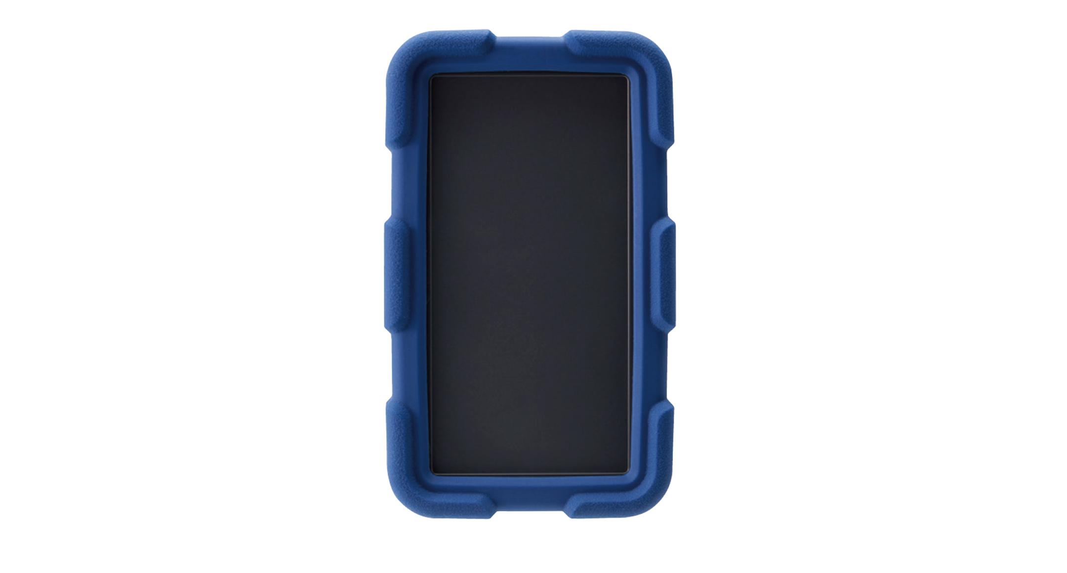 耐衝撃シリコンカバー付プラスチックケース LCTシリーズ:ダークグレー/ネイビーブルーの画像