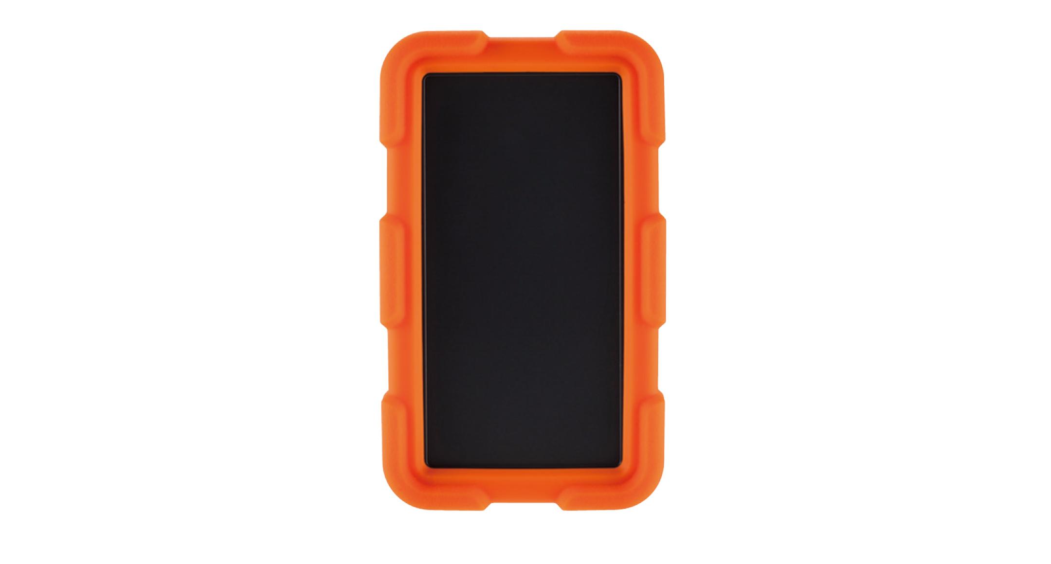耐衝撃シリコンカバー付プラスチックケース LCTシリーズ:ダークグレー/オレンジの画像