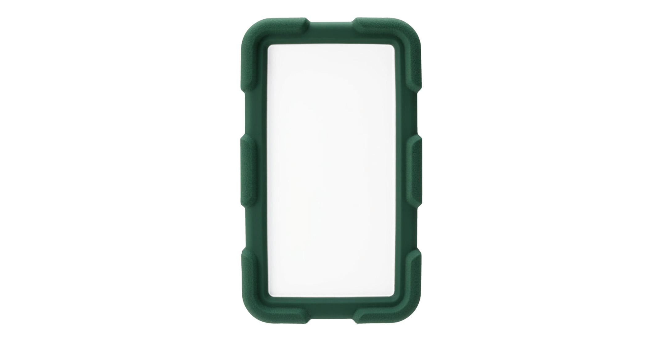 耐衝撃シリコンカバー付プラスチックケース LCTシリーズ:オフホワイト/グリーンの画像