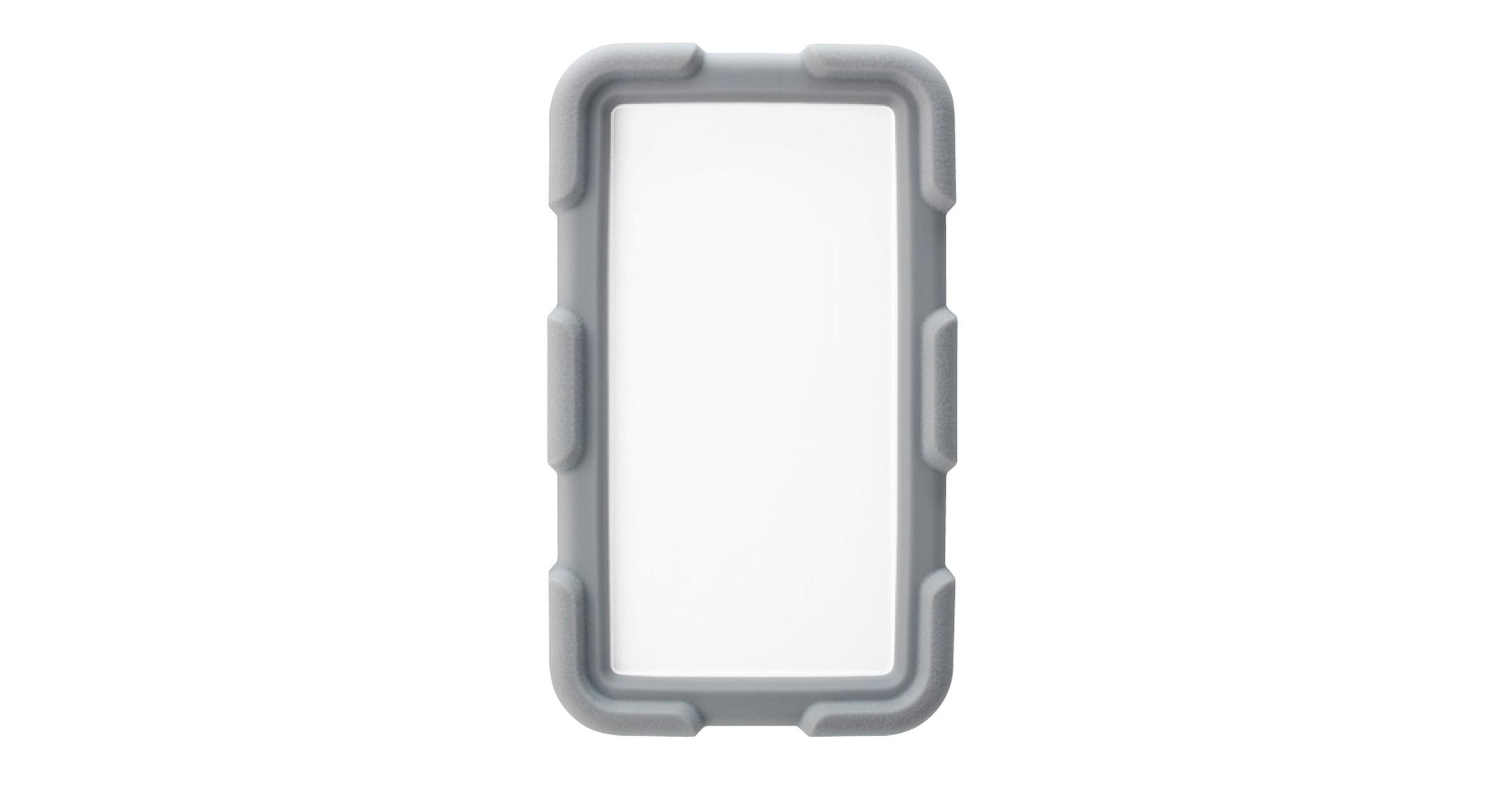 耐衝撃シリコンカバー付プラスチックケース LCTシリーズ:オフホワイト/ライトグレーの画像