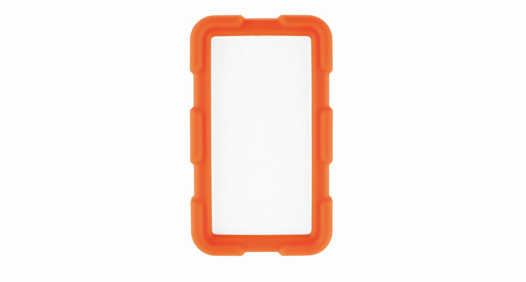 耐衝撃シリコンカバー付プラスチックケース LCTシリーズ:オフホワイト/オレンジの画像