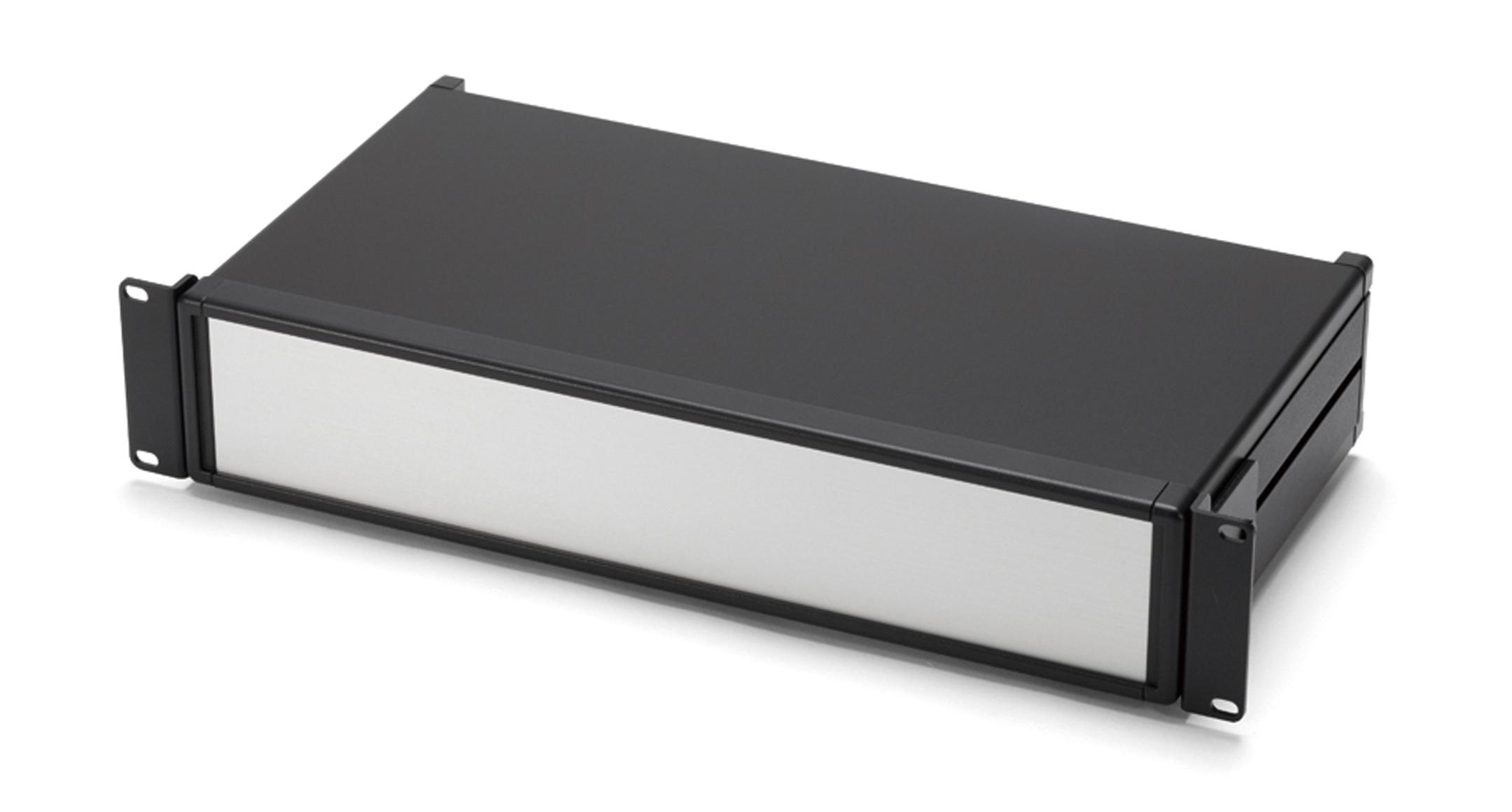 アルミシステムラックケース MORシリーズ(上下カバーアルミ製):ブラック/シルバーの画像