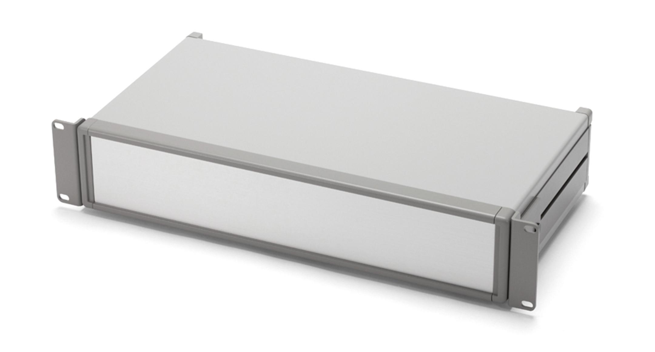 アルミシステムラックケース MORシリーズ(上下カバーアルミ製):グレー/シルバーの画像