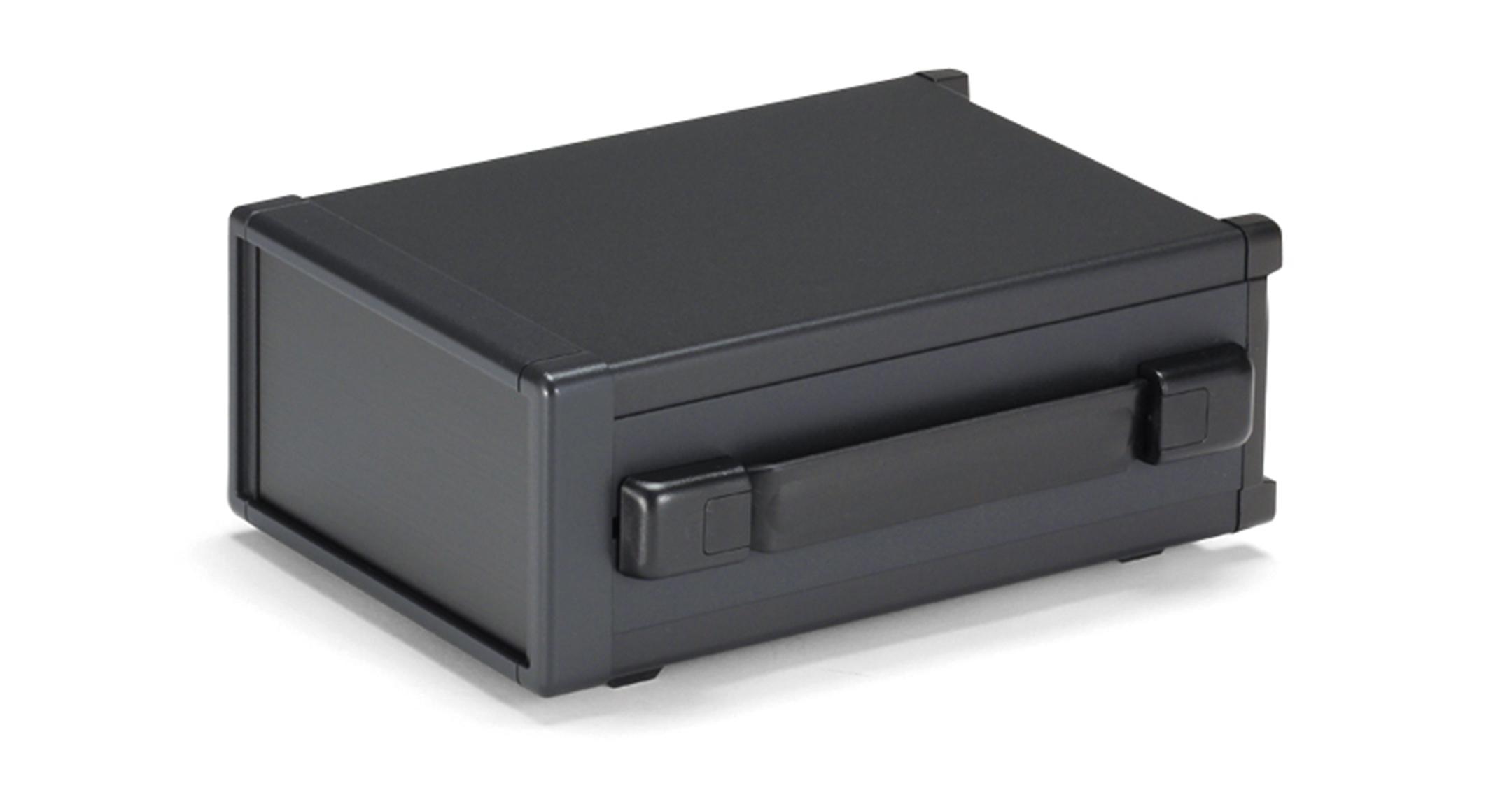バンド取手付アルミシステムケース MOYシリーズ(上下カバーアルミ製):ブラック/ブラックの画像