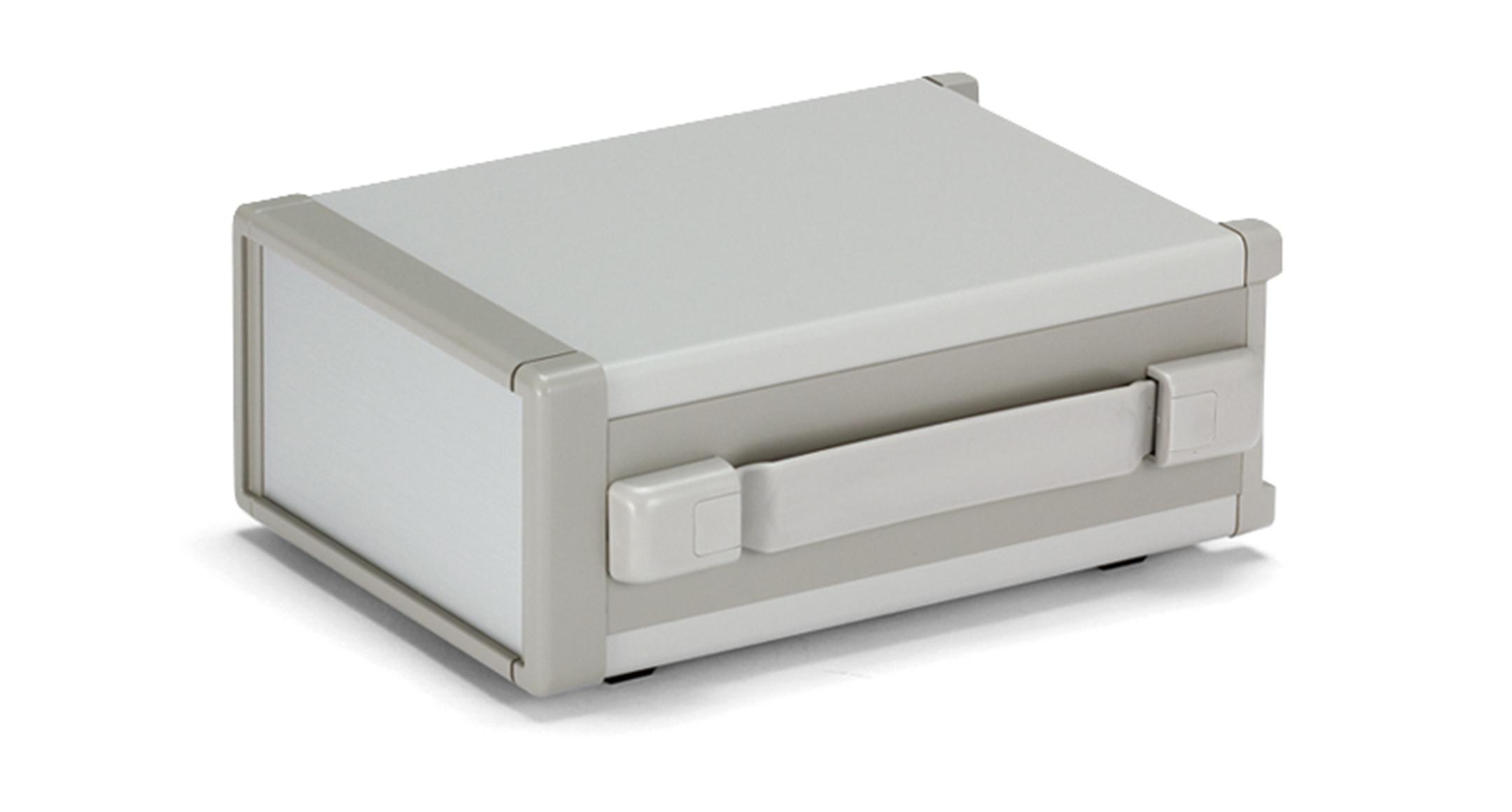 バンド取手付システムケース MSYシリーズ(上下カバー鉄製):グレー/シルバーの画像