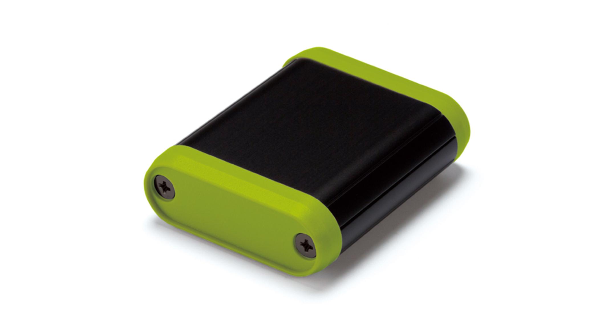 丸型モバイルケース MXシリーズ:ブラック/ライムの画像