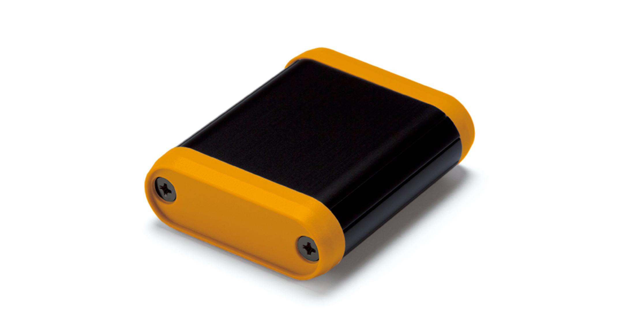 丸型モバイルケース MXシリーズ:ブラック/オレンジの画像