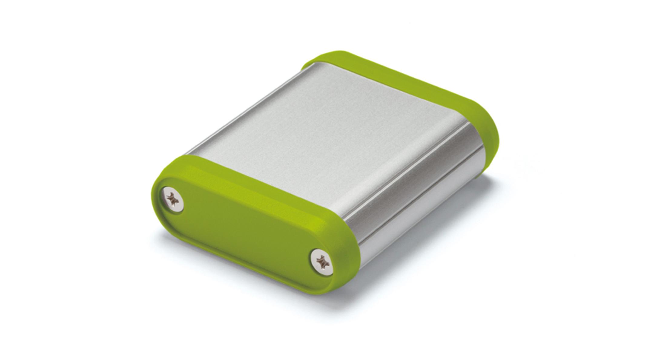丸型モバイルケース MXシリーズ:シルバー/ライムの画像