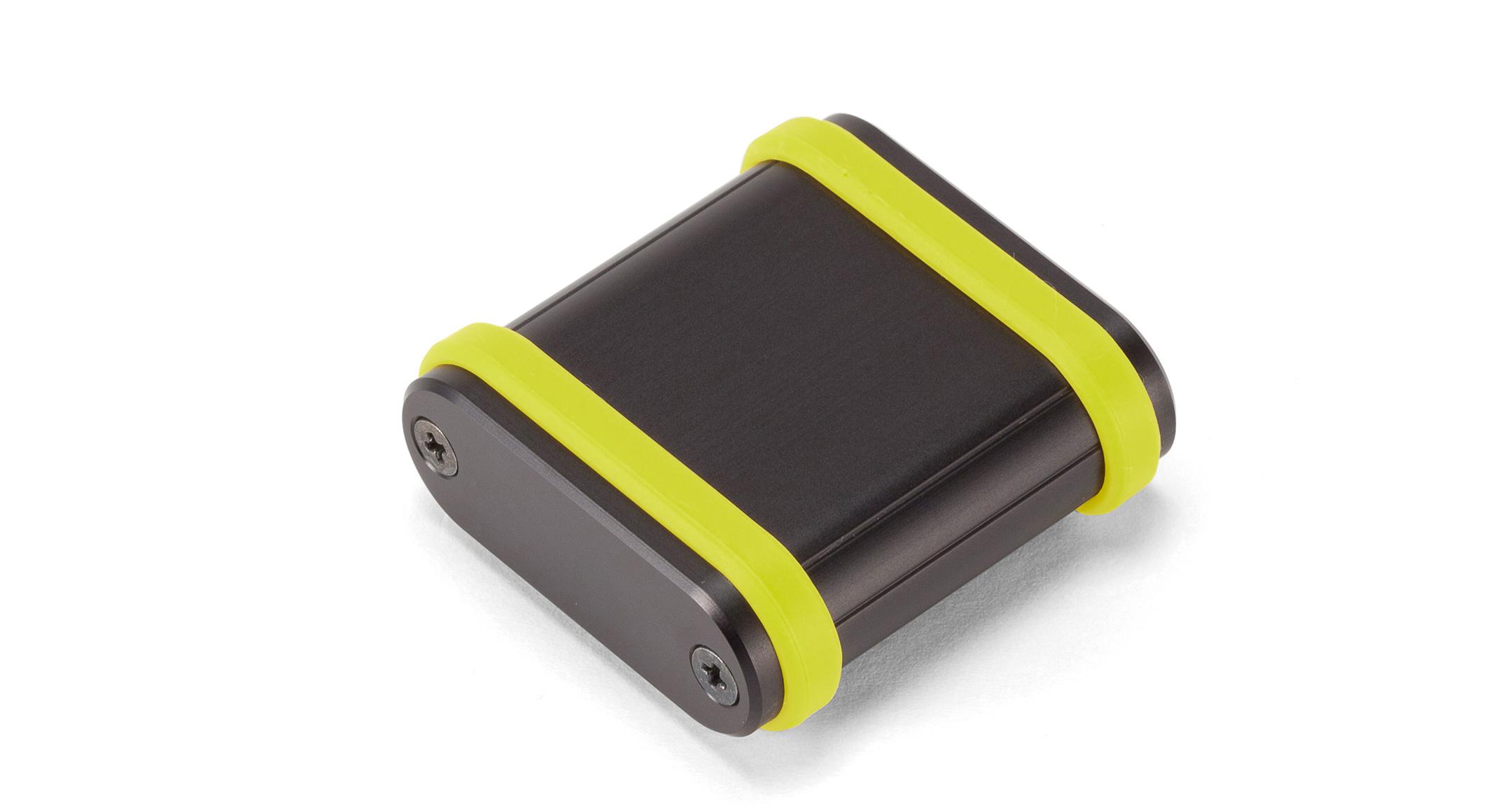 シリコンバンド付モバイルケース MXBシリーズ:ブラック/グリーンの画像