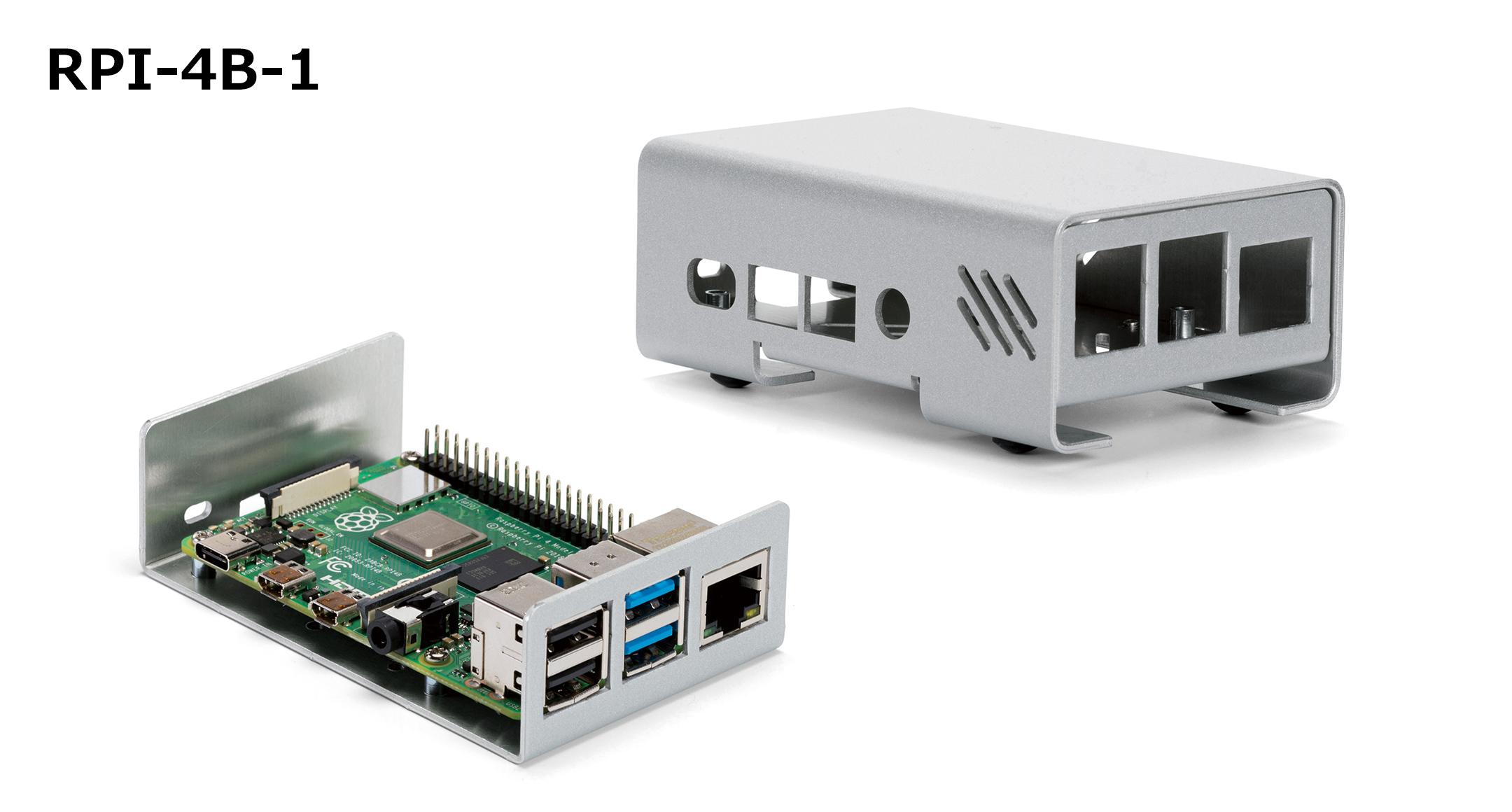 Raspberry Pi 4B ケース アルミ製 RPI-4シリーズの画像