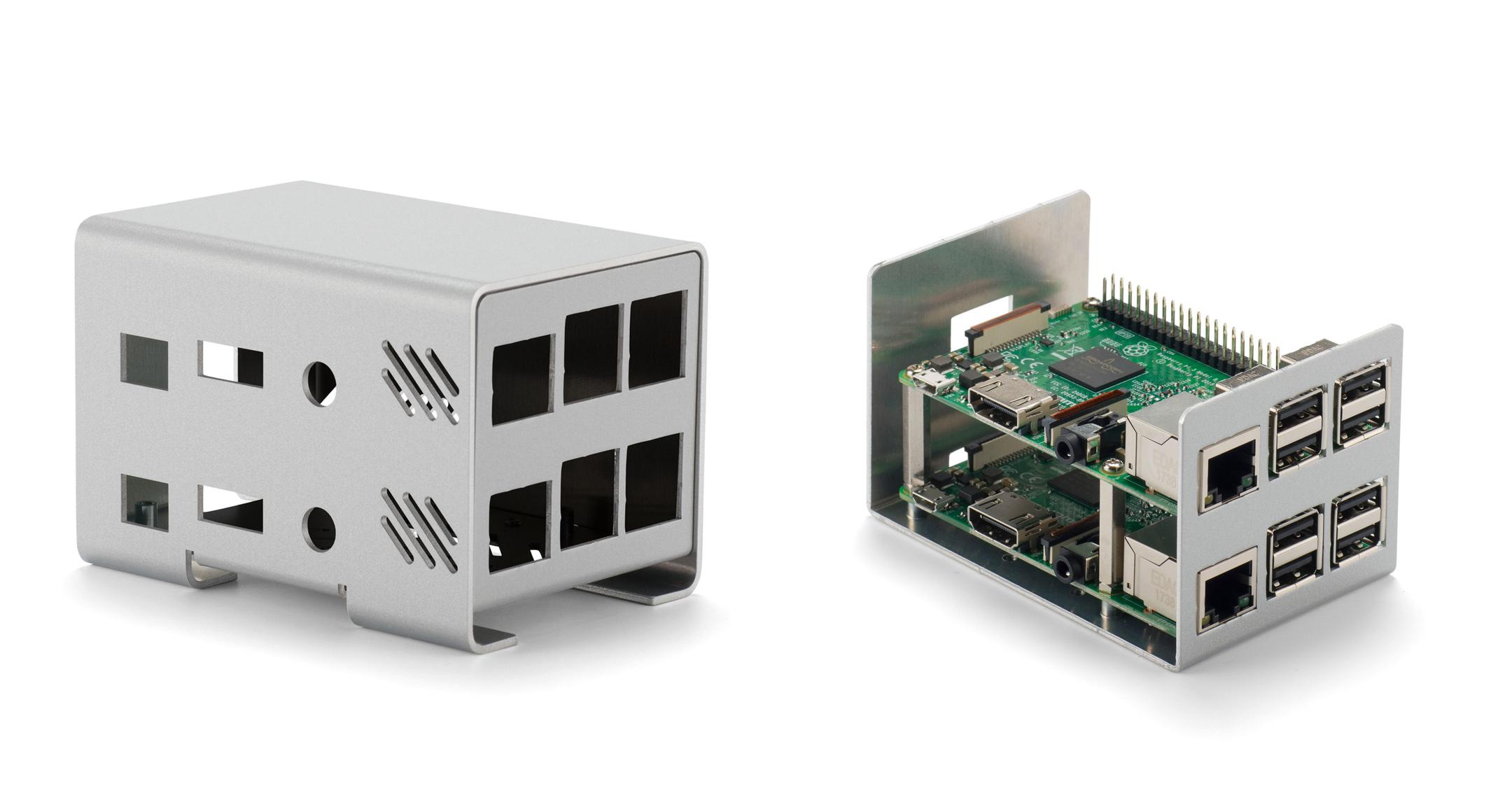 Raspberry Pi ケース アルミ製 2B/3B用 RPIシリーズの画像
