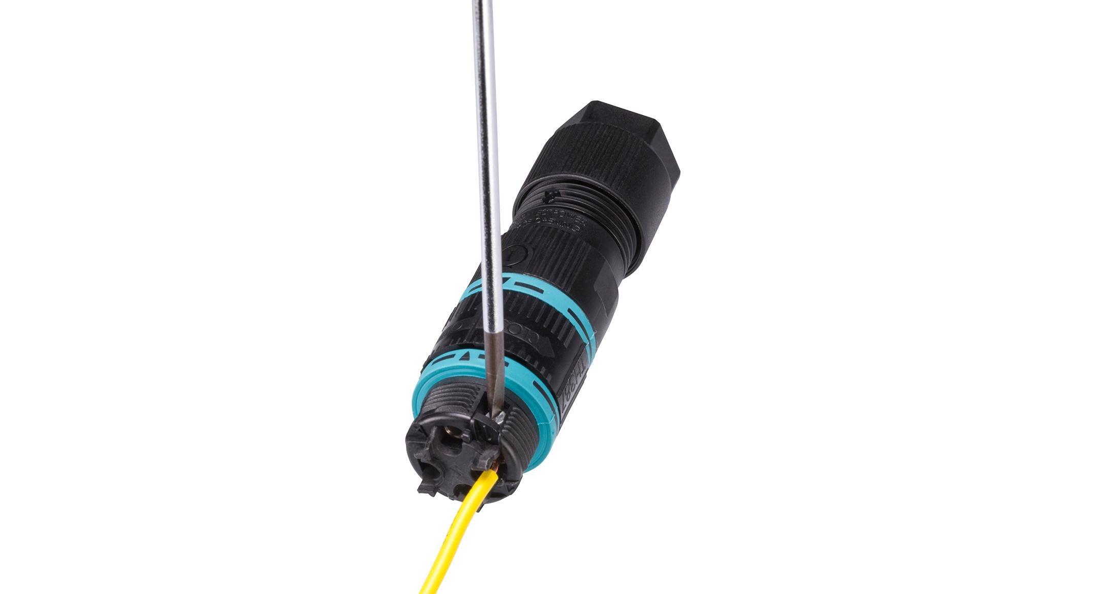 UL認証 防水中継コネクタ THB387Lシリーズの画像