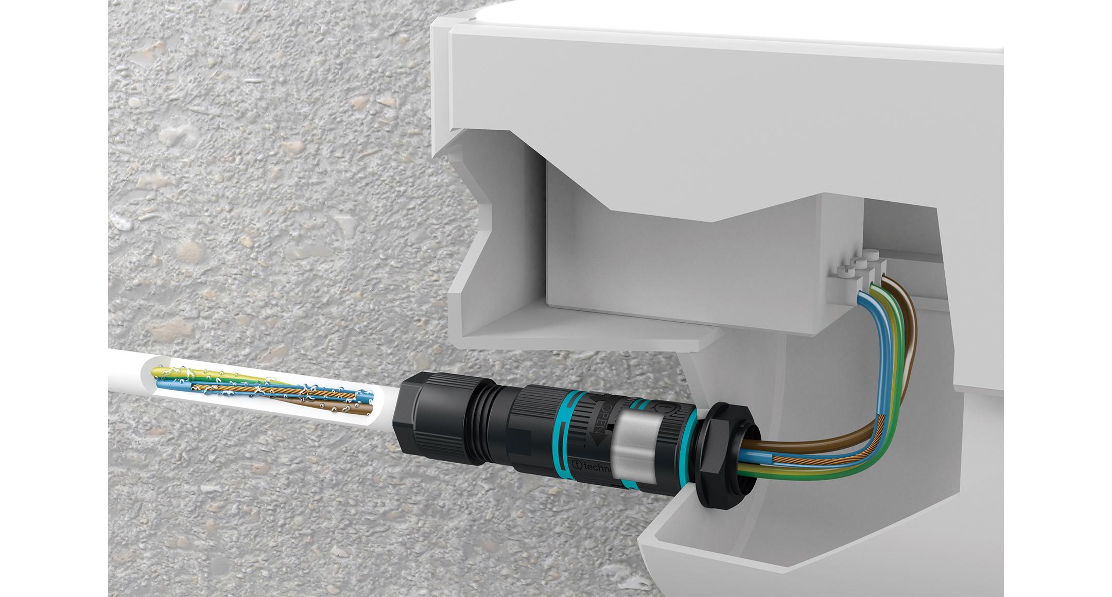 UL認証 パネルマウント防水コネクタ THB387LEシリーズの画像