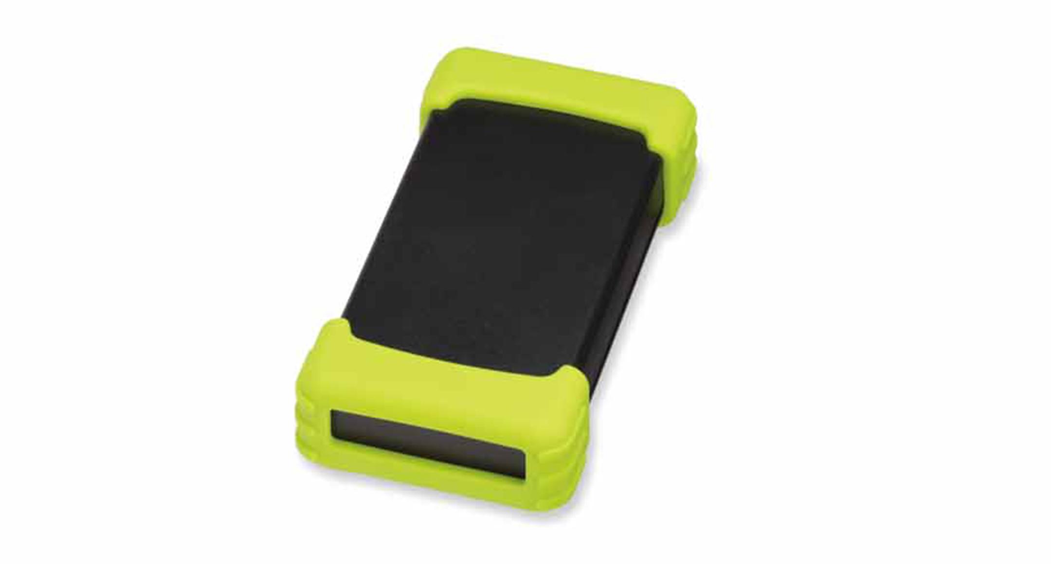 シリコンプロテクター付プラスチックケース TWSシリーズ:ブラック/グリーンの画像