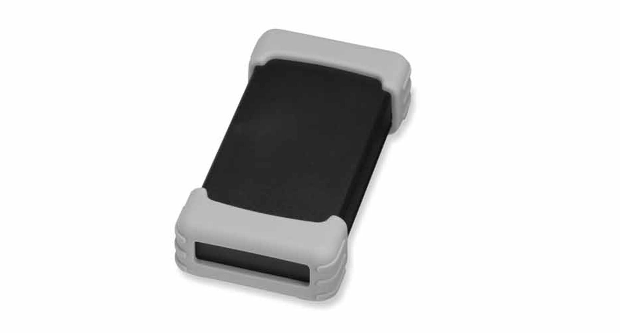 シリコンプロテクター付プラスチックケース TWSシリーズ:ブラック/ライトグレーの画像