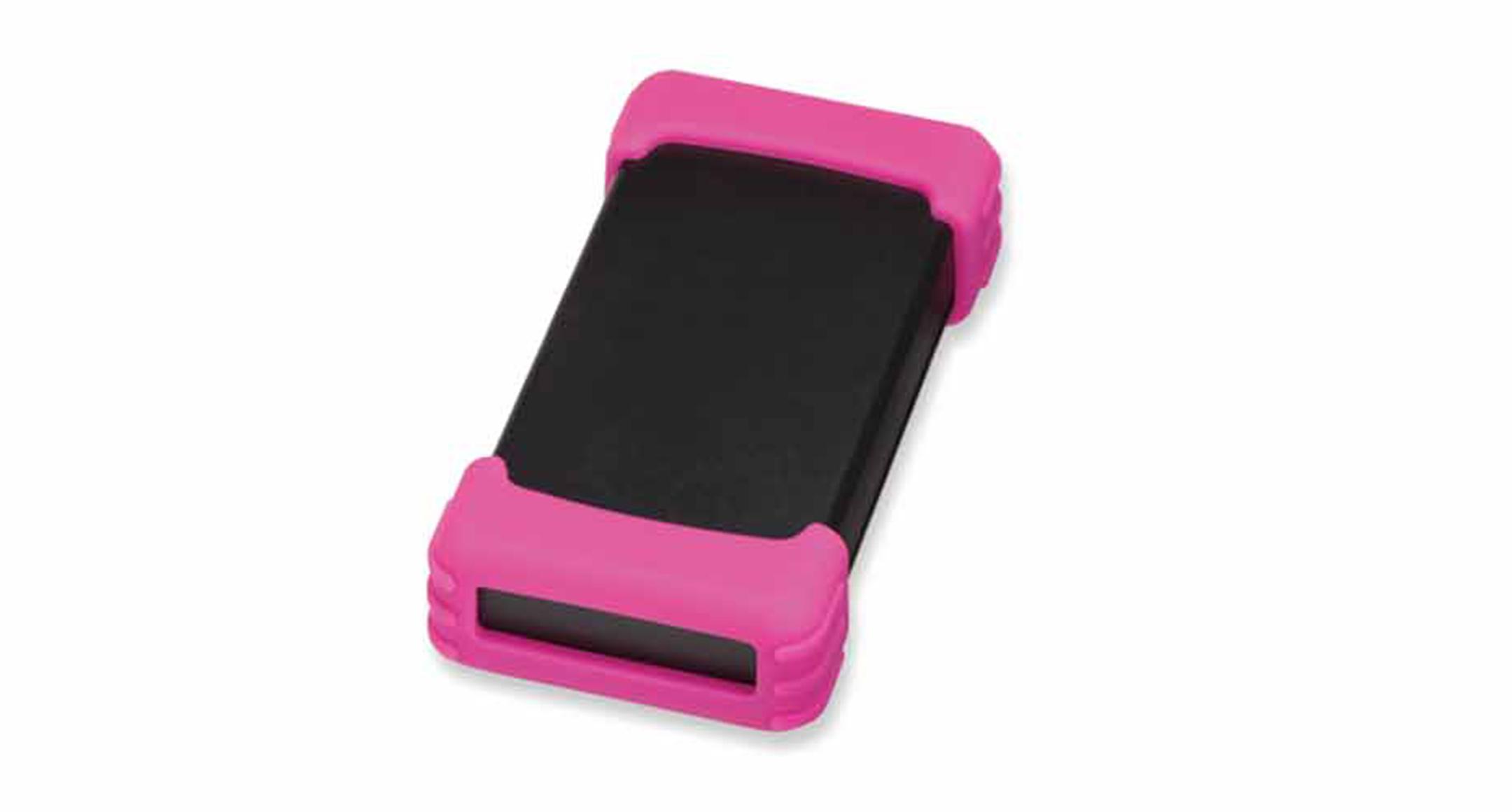 シリコンプロテクター付プラスチックケース TWSシリーズ:ブラック/ピンクの画像