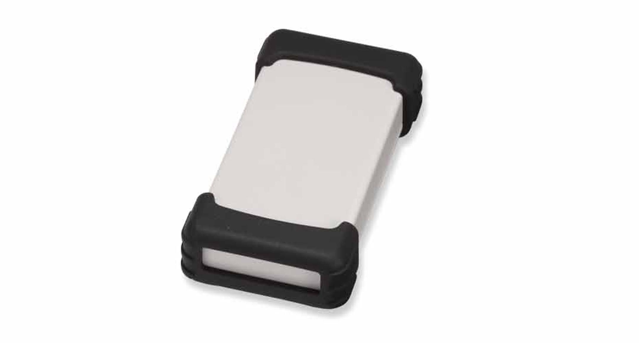 シリコンプロテクター付プラスチックケース TWSシリーズ:ライトグレー/ブラックの画像