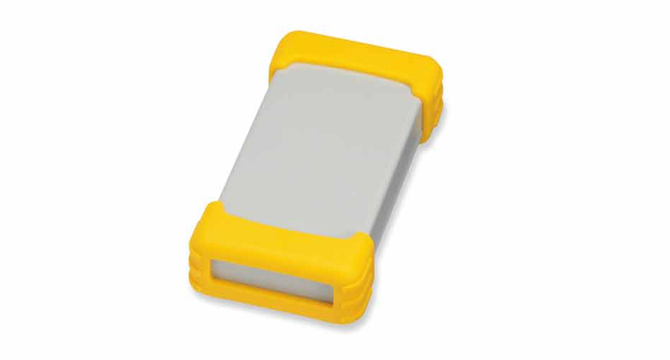 シリコンプロテクター付プラスチックケース TWSシリーズ:ライトグレー/イエローの画像
