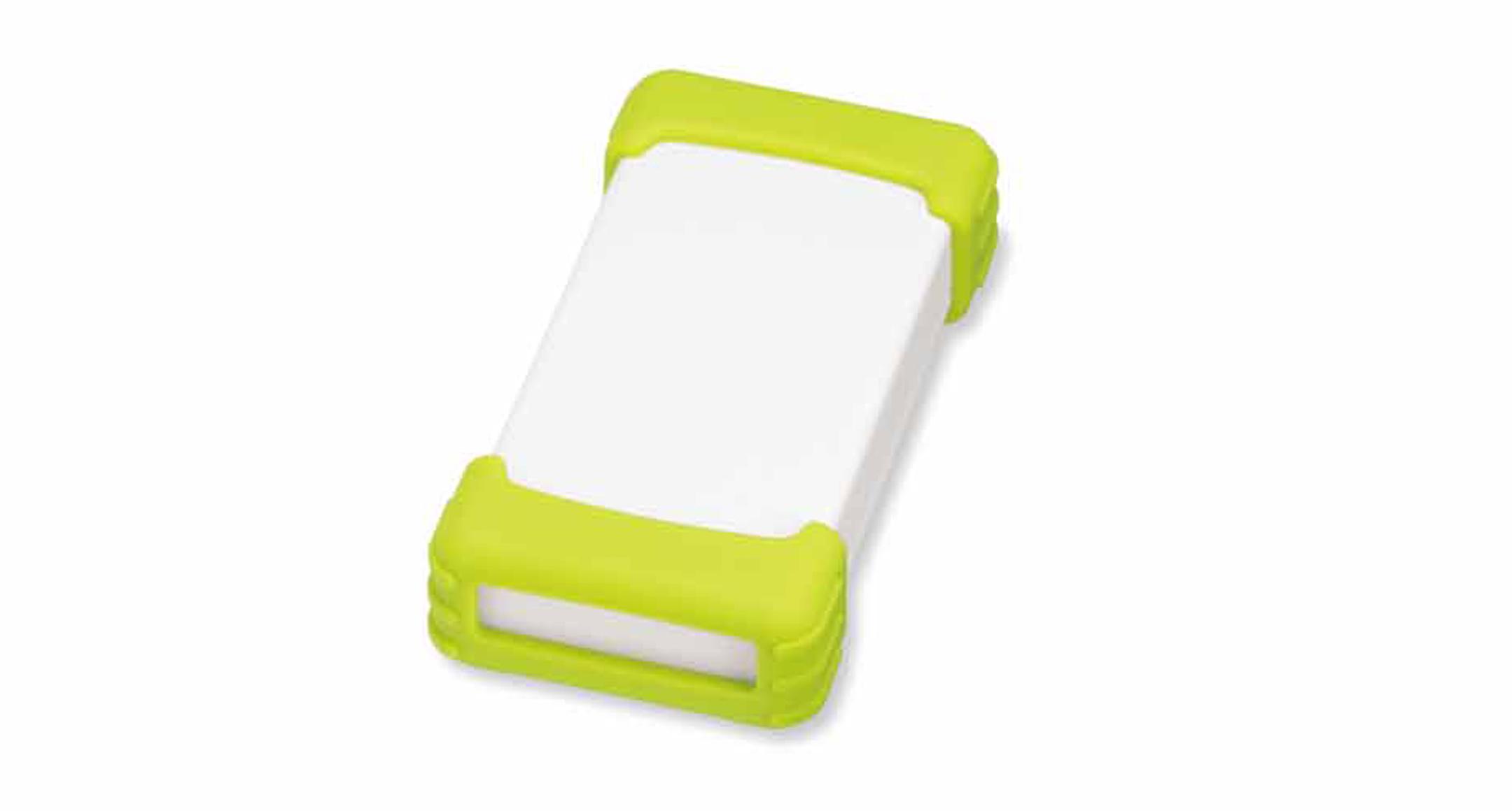 シリコンプロテクター付プラスチックケース TWSシリーズ:オフホワイト/グリーンの画像