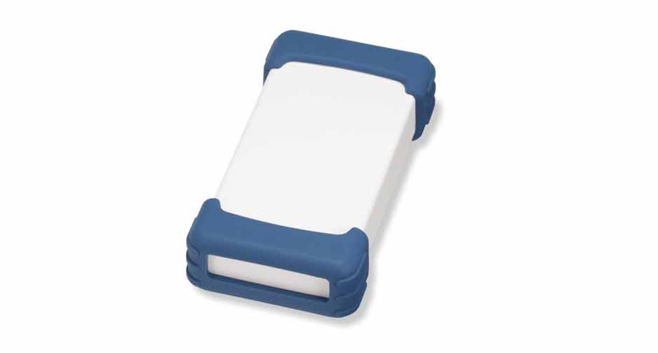 シリコンプロテクター付プラスチックケース TWSシリーズ:オフホワイト/ネイビーブルーの画像