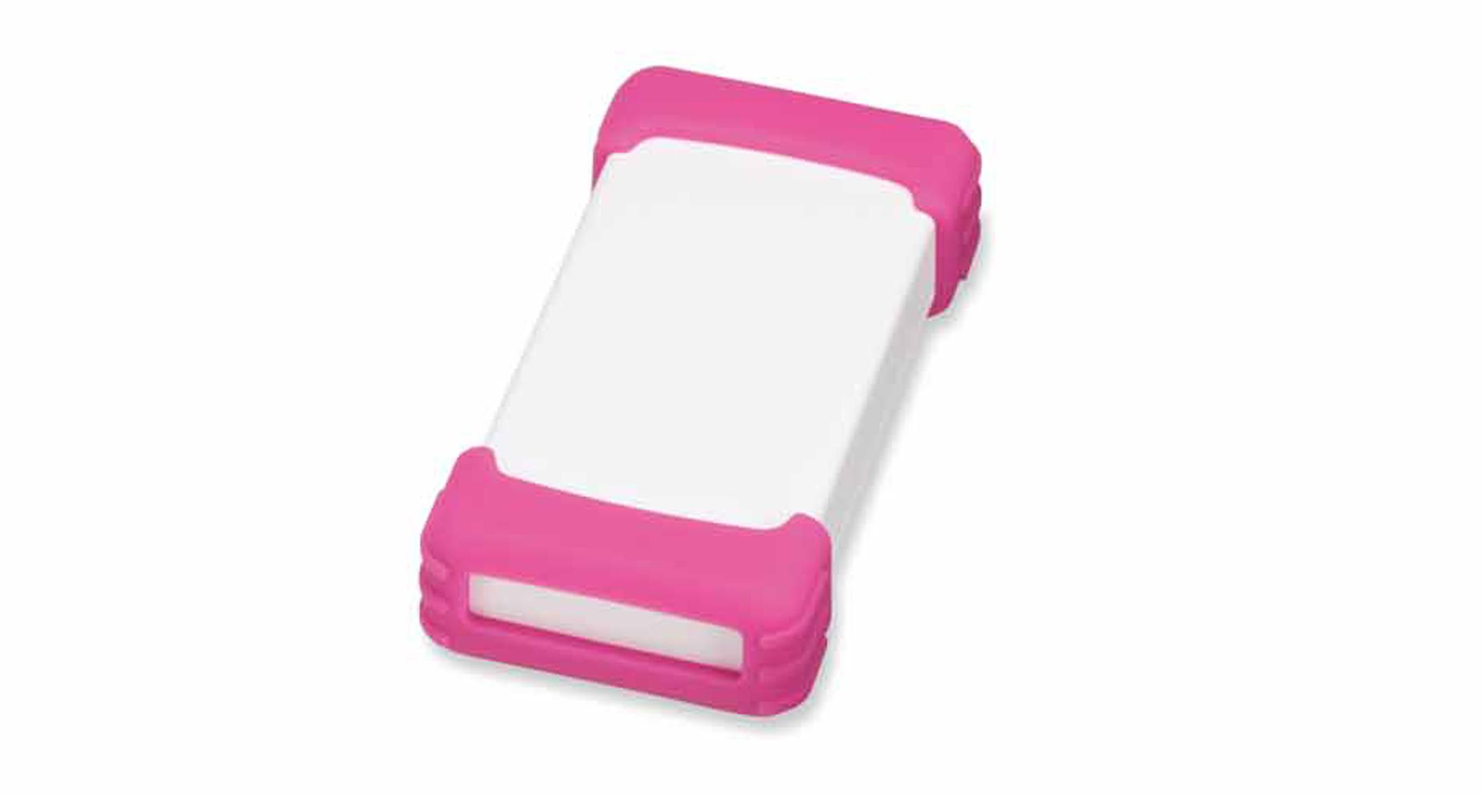 シリコンプロテクター付プラスチックケース TWSシリーズ:オフホワイト/ピンクの画像
